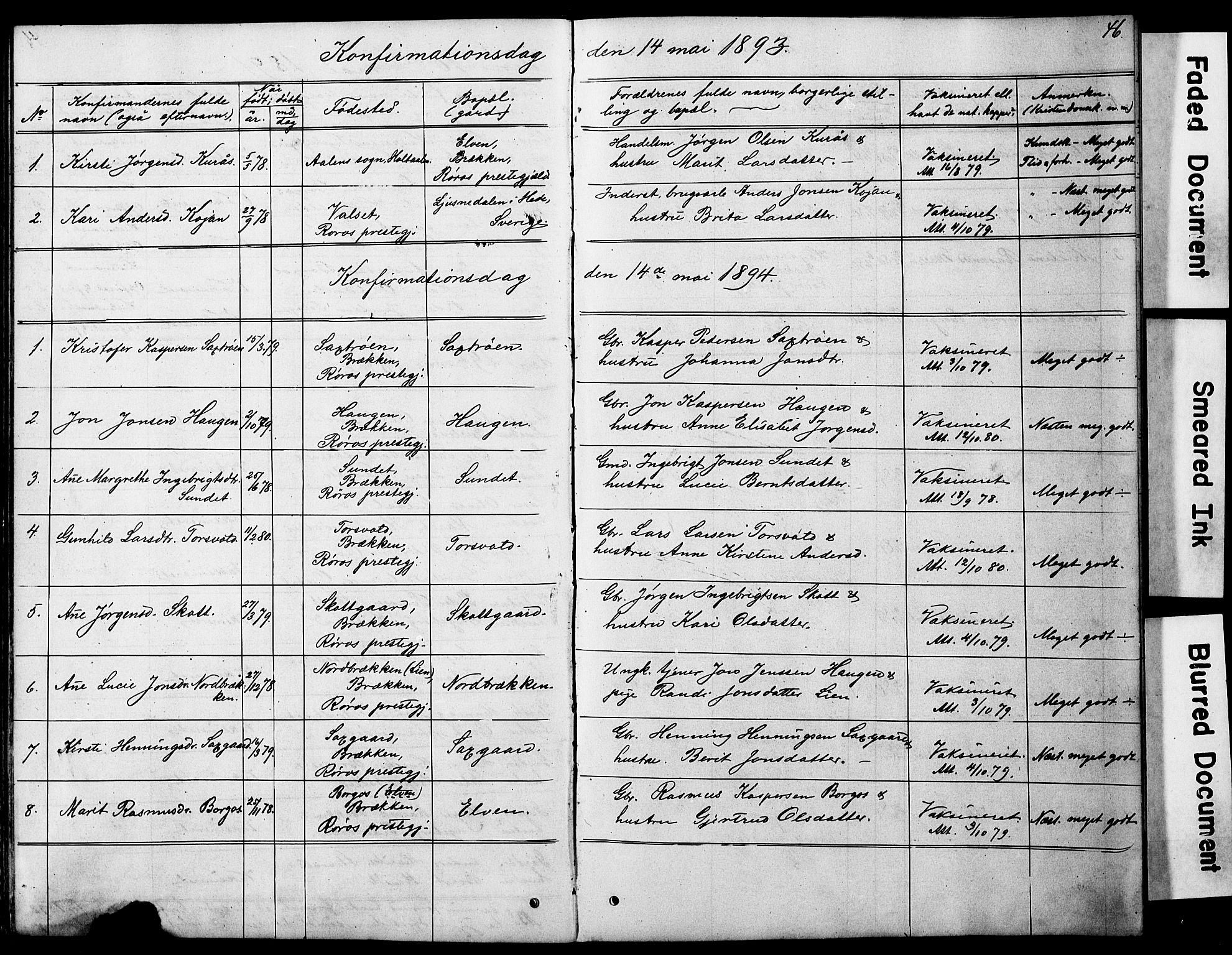 SAT, Ministerialprotokoller, klokkerbøker og fødselsregistre - Sør-Trøndelag, 683/L0949: Klokkerbok nr. 683C01, 1880-1896, s. 46