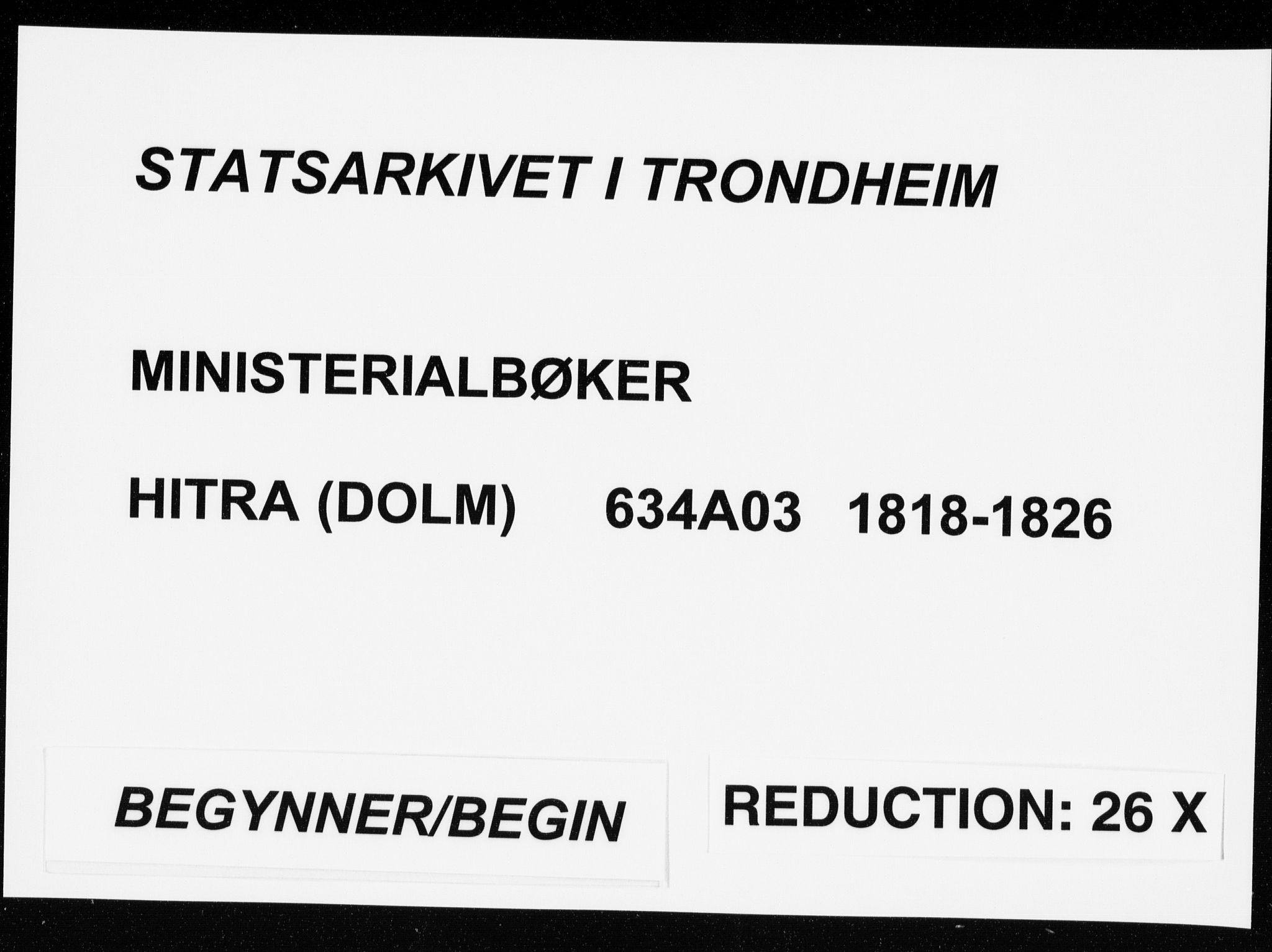 SAT, Ministerialprotokoller, klokkerbøker og fødselsregistre - Sør-Trøndelag, 634/L0527: Ministerialbok nr. 634A03, 1818-1826
