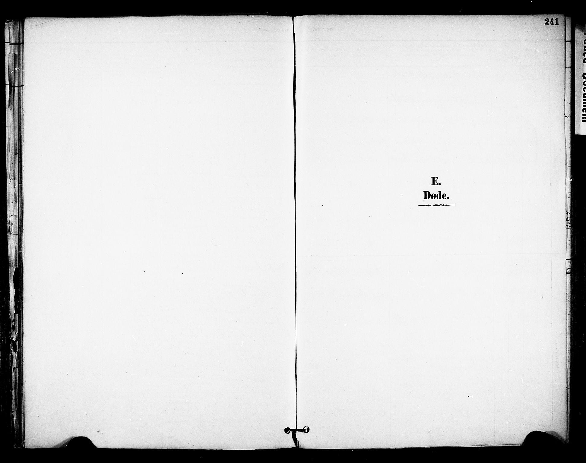 SAKO, Solum kirkebøker, F/Fa/L0010: Ministerialbok nr. I 10, 1888-1898, s. 241