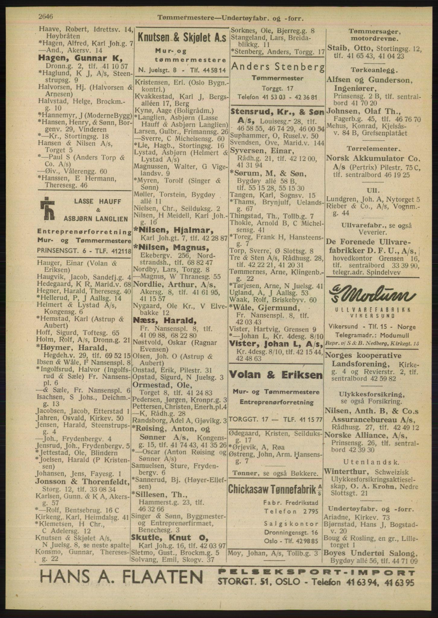 PUBL, Kristiania/Oslo adressebok, 1948, s. 2646