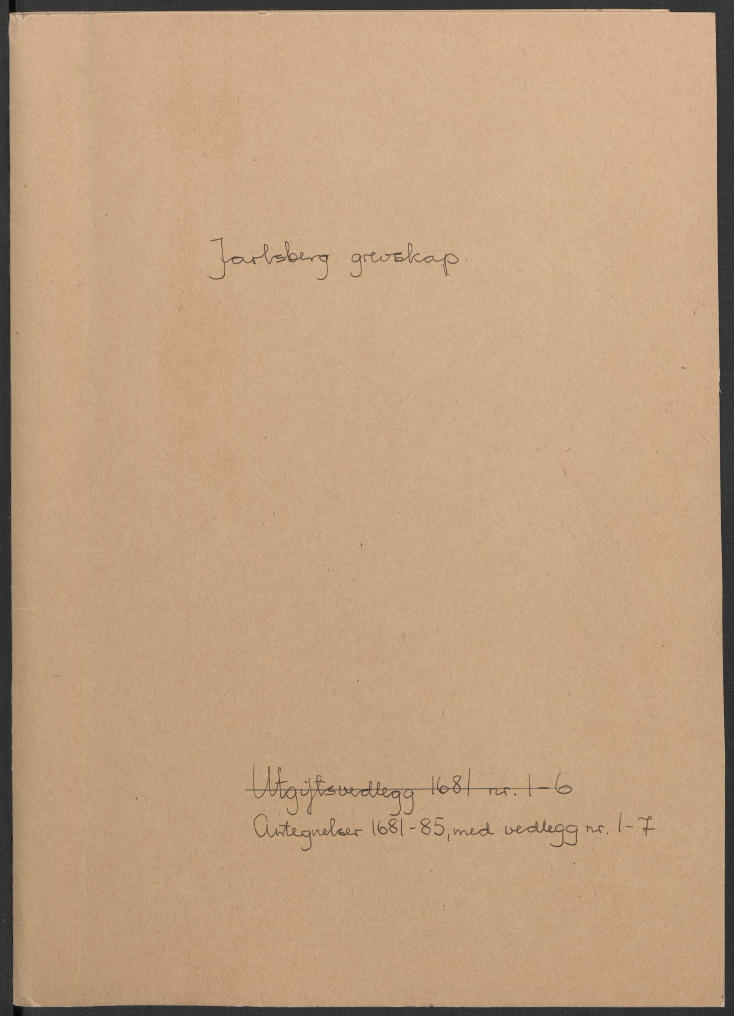 RA, Rentekammeret inntil 1814, Reviderte regnskaper, Fogderegnskap, R32/L1856: Fogderegnskap Jarlsberg grevskap, 1685, s. 370