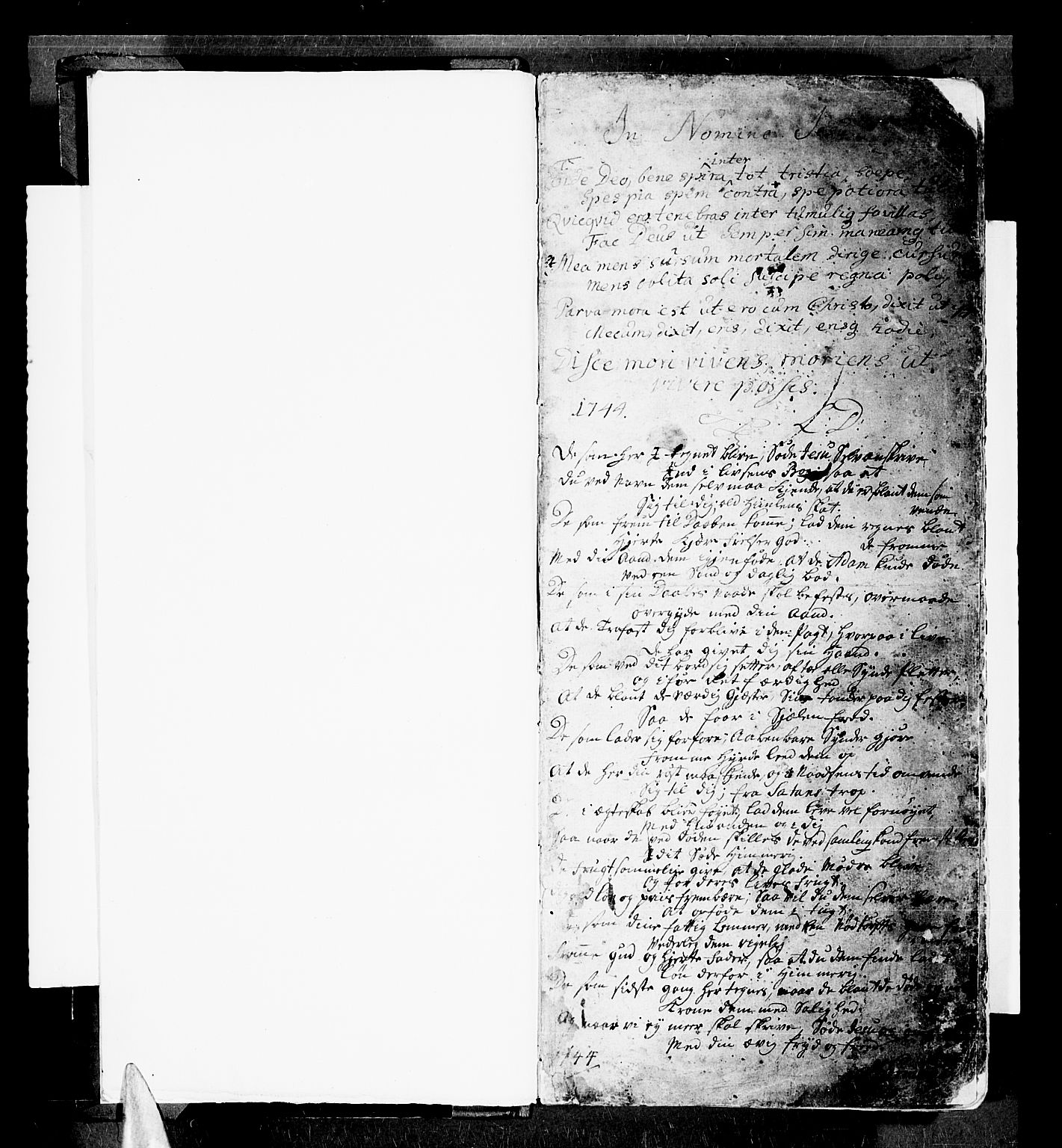 SATØ, Trondenes sokneprestkontor, H/Ha/L0001kirke: Ministerialbok nr. 1, 1744-1777, s. 1
