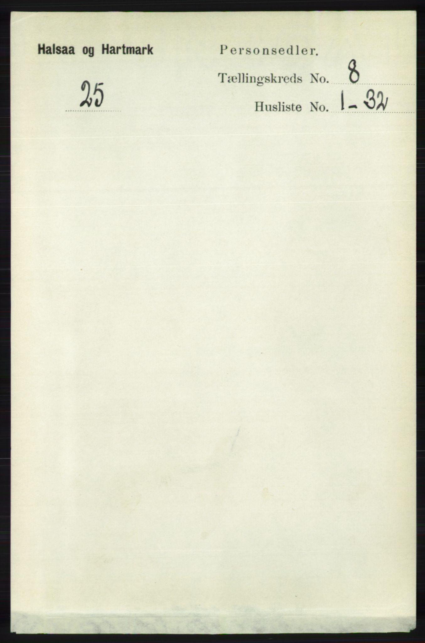 RA, Folketelling 1891 for 1019 Halse og Harkmark herred, 1891, s. 3253