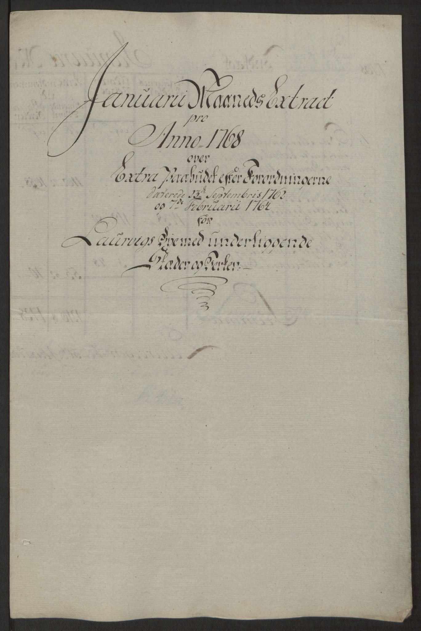 RA, Rentekammeret inntil 1814, Reviderte regnskaper, Byregnskaper, R/Ri/L0183: [I4] Kontribusjonsregnskap, 1762-1768, s. 457