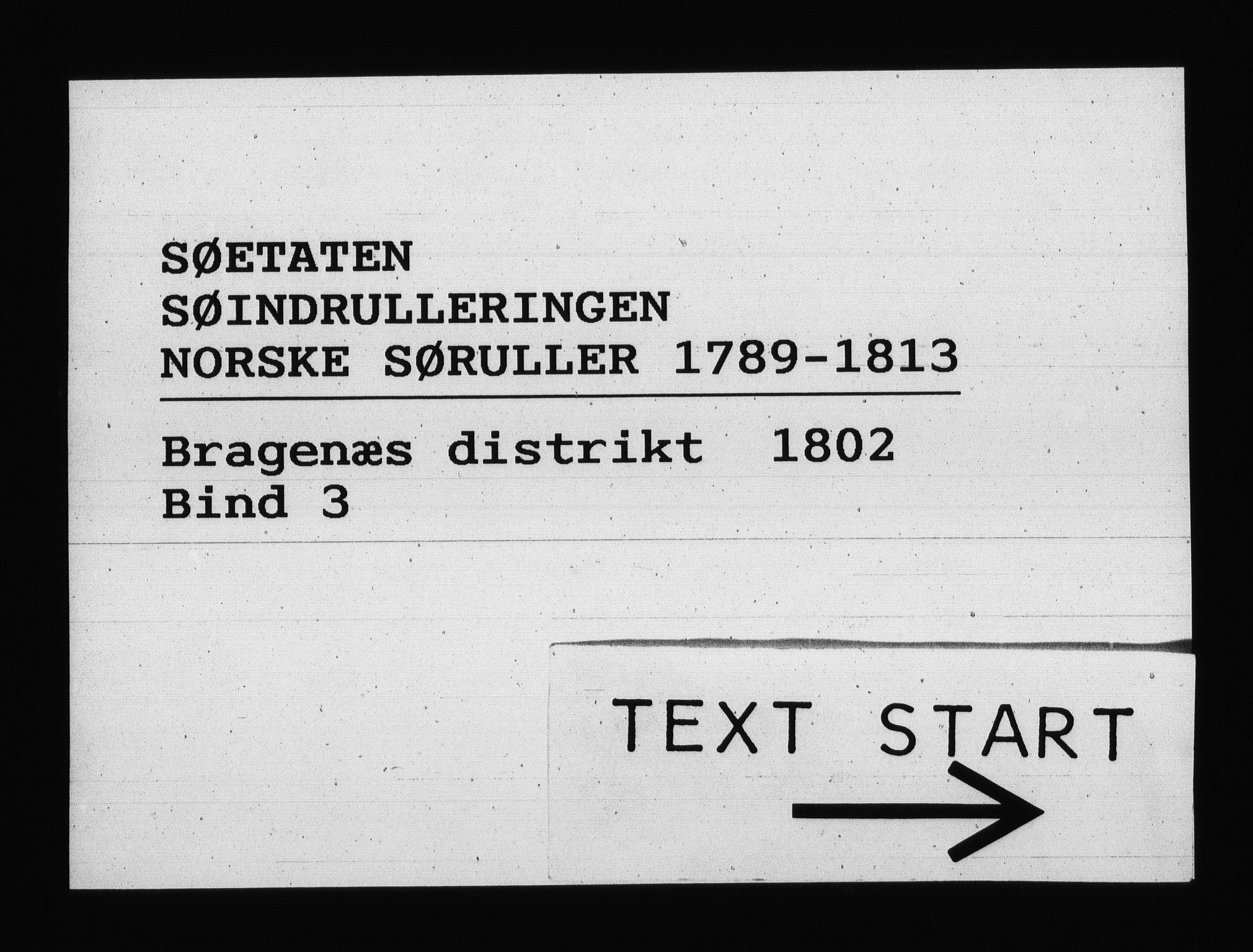 RA, Sjøetaten, F/L0145: Bragernes distrikt, bind 3, 1802