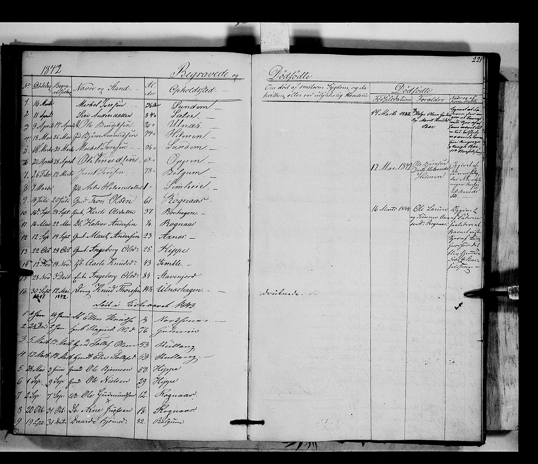 SAH, Nord-Aurdal prestekontor, Ministerialbok nr. 6, 1842-1863, s. 221