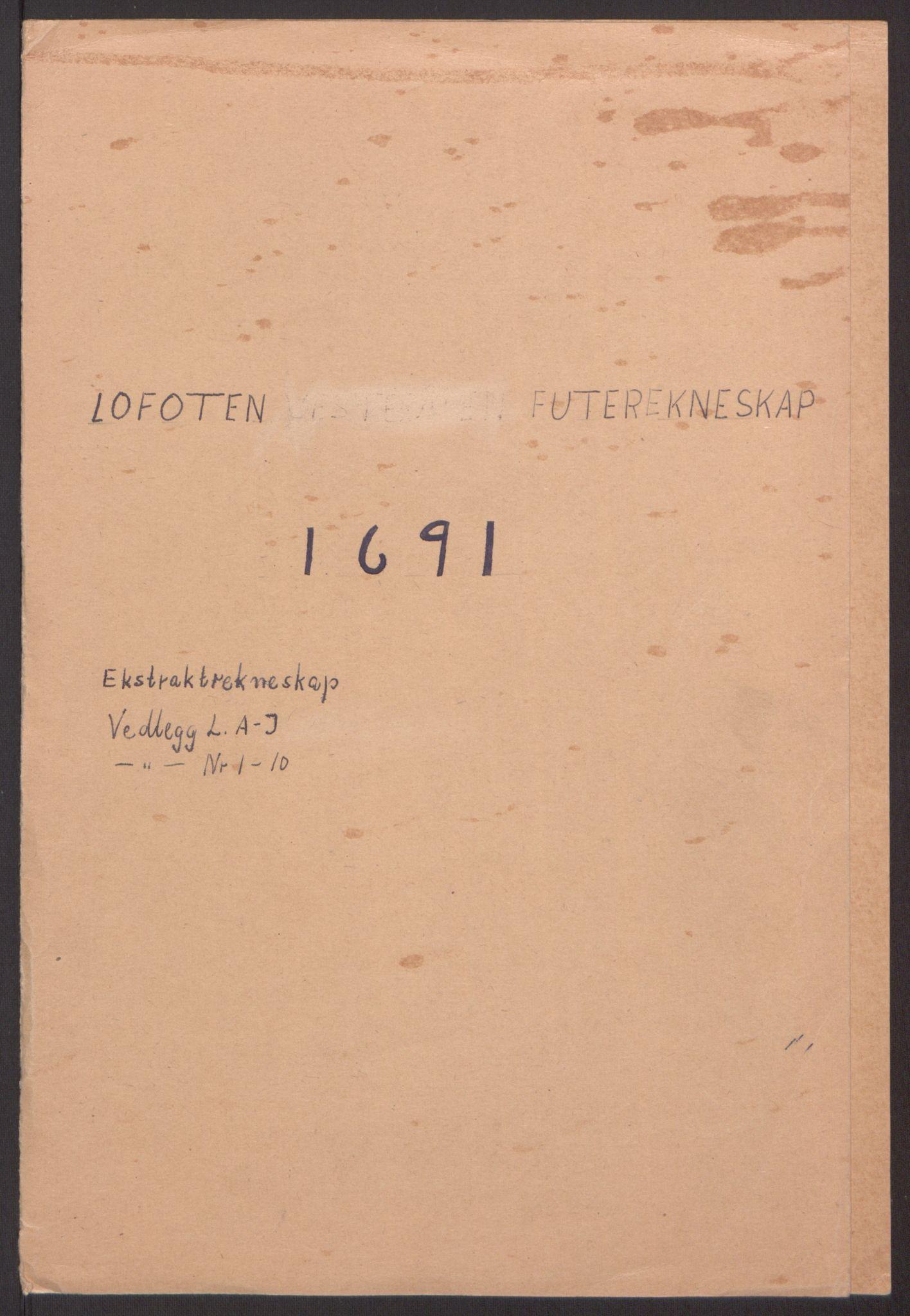 RA, Rentekammeret inntil 1814, Reviderte regnskaper, Fogderegnskap, R67/L4675: Fogderegnskap Vesterålen, Andenes og Lofoten, 1691-1693, s. 2
