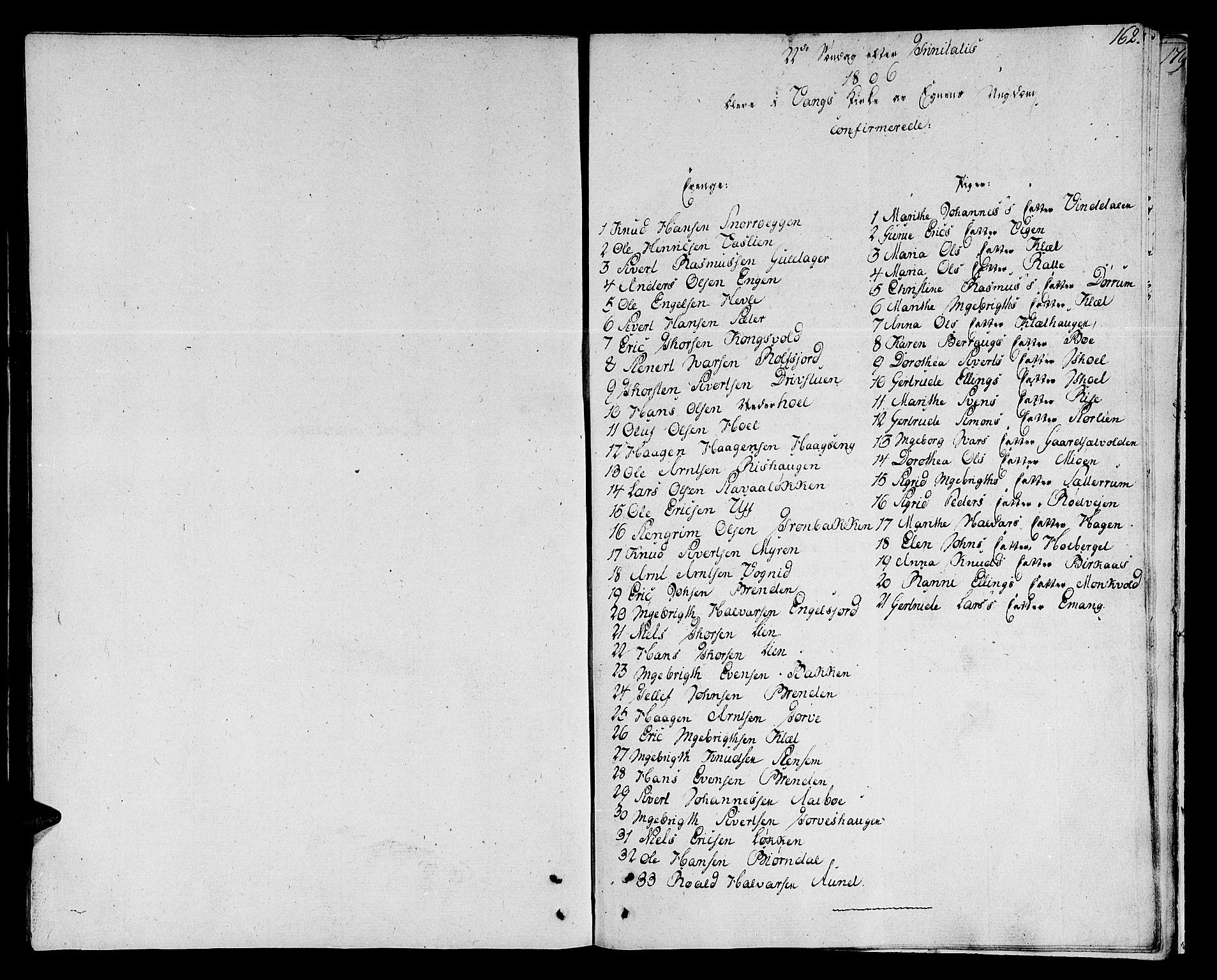 SAT, Ministerialprotokoller, klokkerbøker og fødselsregistre - Sør-Trøndelag, 678/L0894: Ministerialbok nr. 678A04, 1806-1815, s. 162