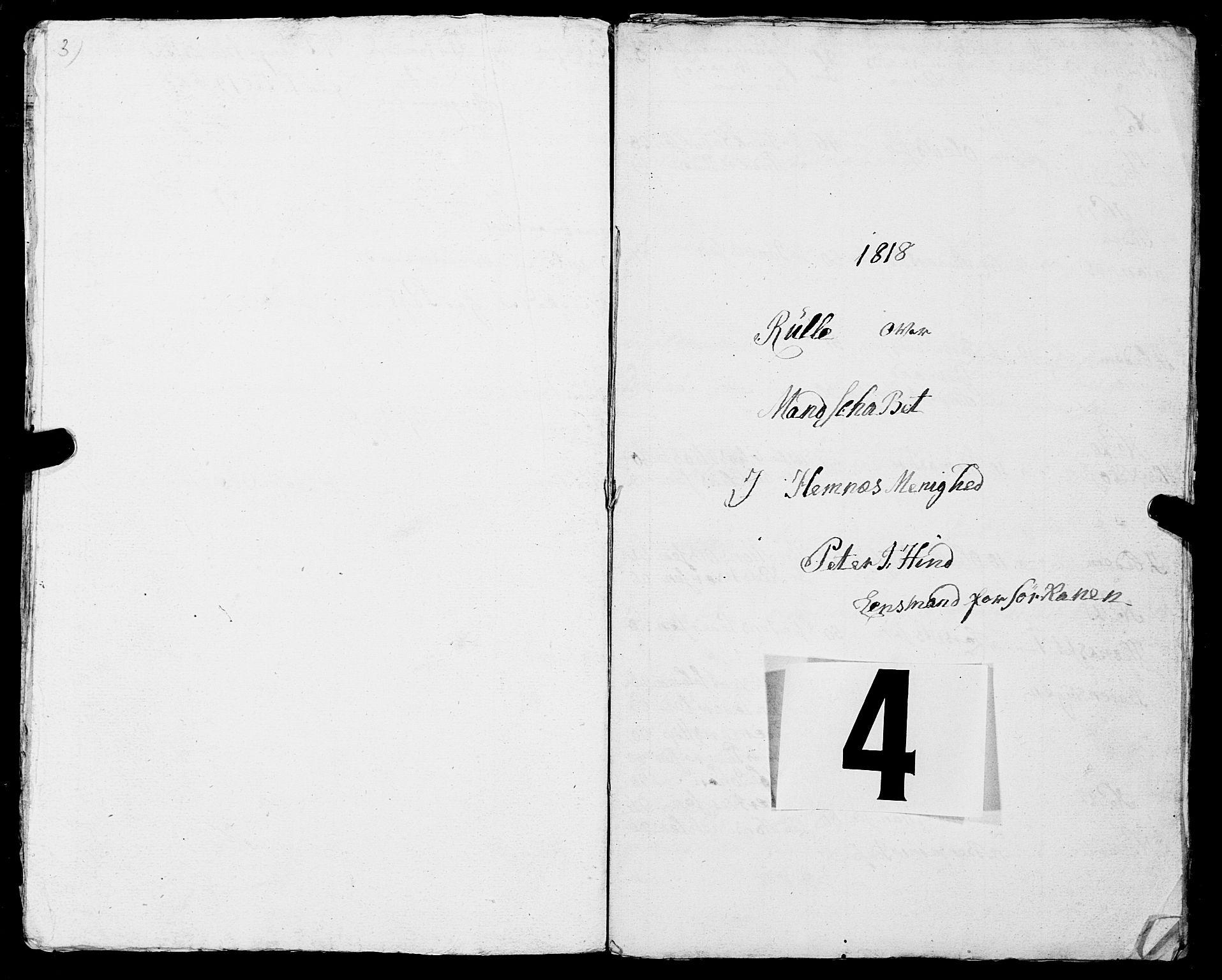 SAT, Fylkesmannen i Nordland, R/RA/L0013: Innrulleringsmanntall for Hemnes (Sør-Rana), 1809-1835, s. 101