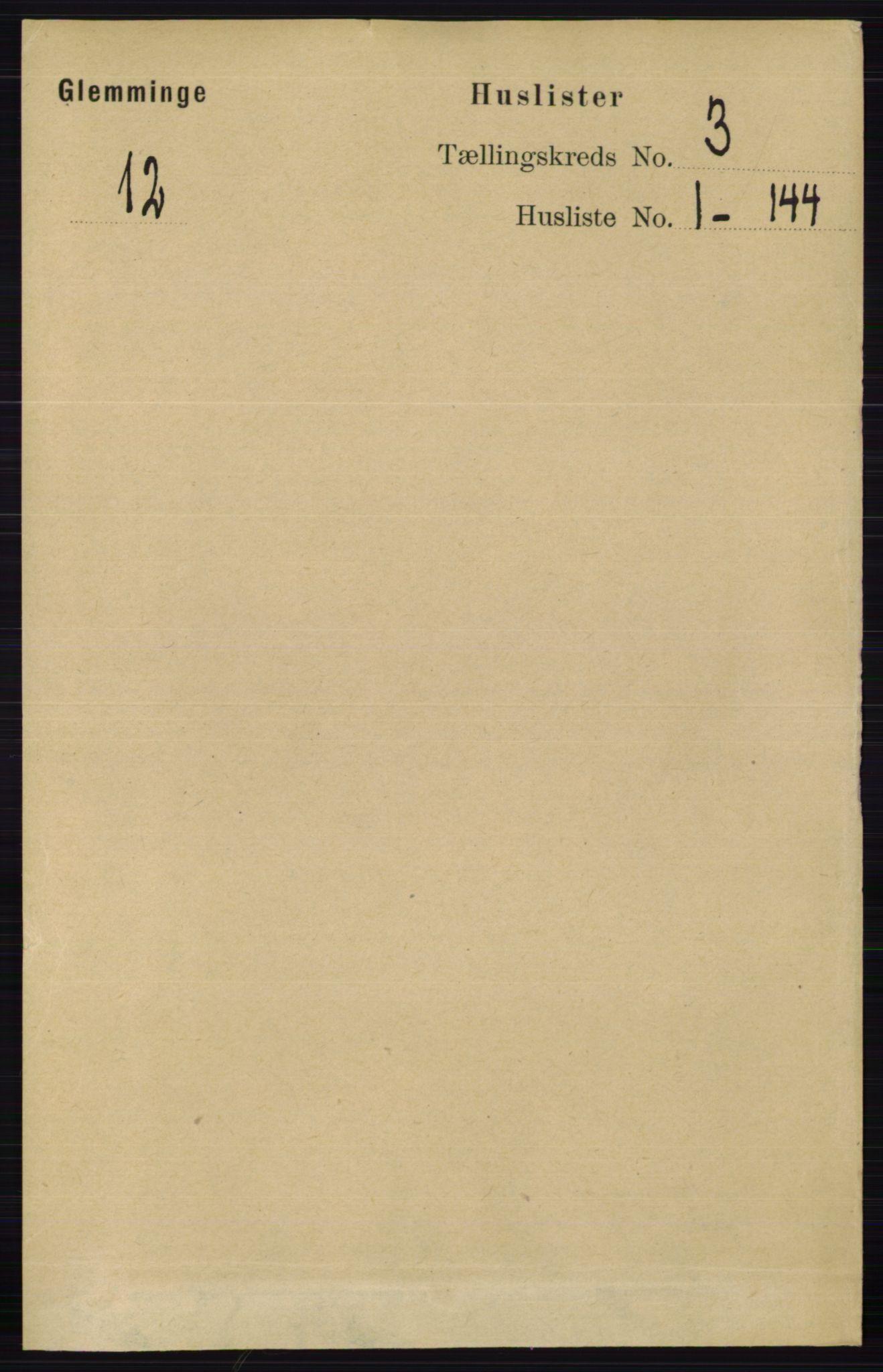 RA, Folketelling 1891 for 0132 Glemmen herred, 1891, s. 1789