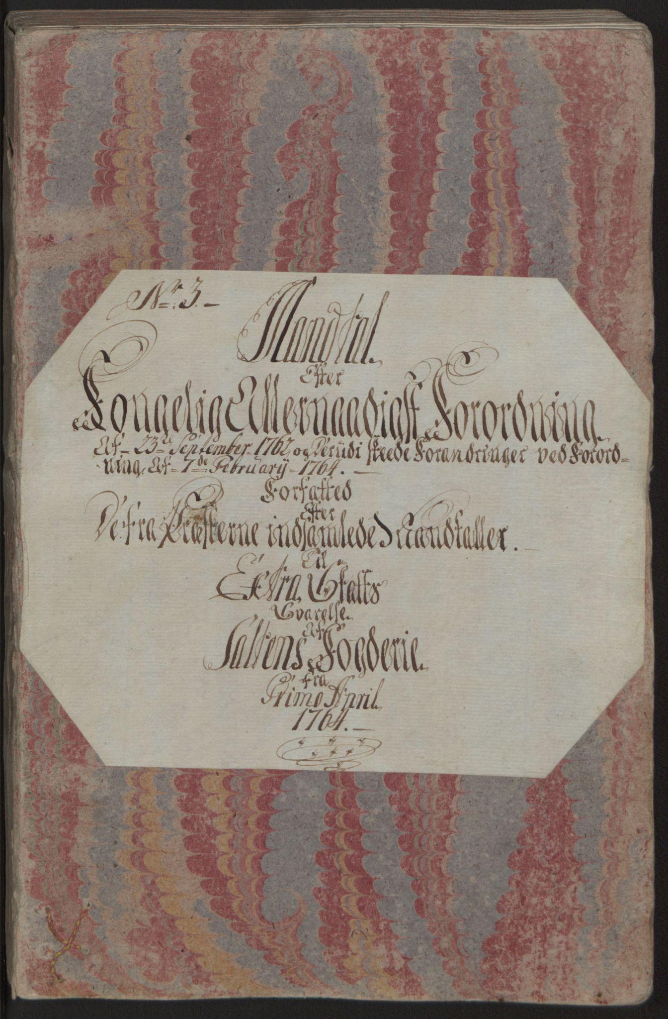 RA, Rentekammeret inntil 1814, Reviderte regnskaper, Fogderegnskap, R66/L4670: Ekstraskatten Salten, 1762-1764, s. 192