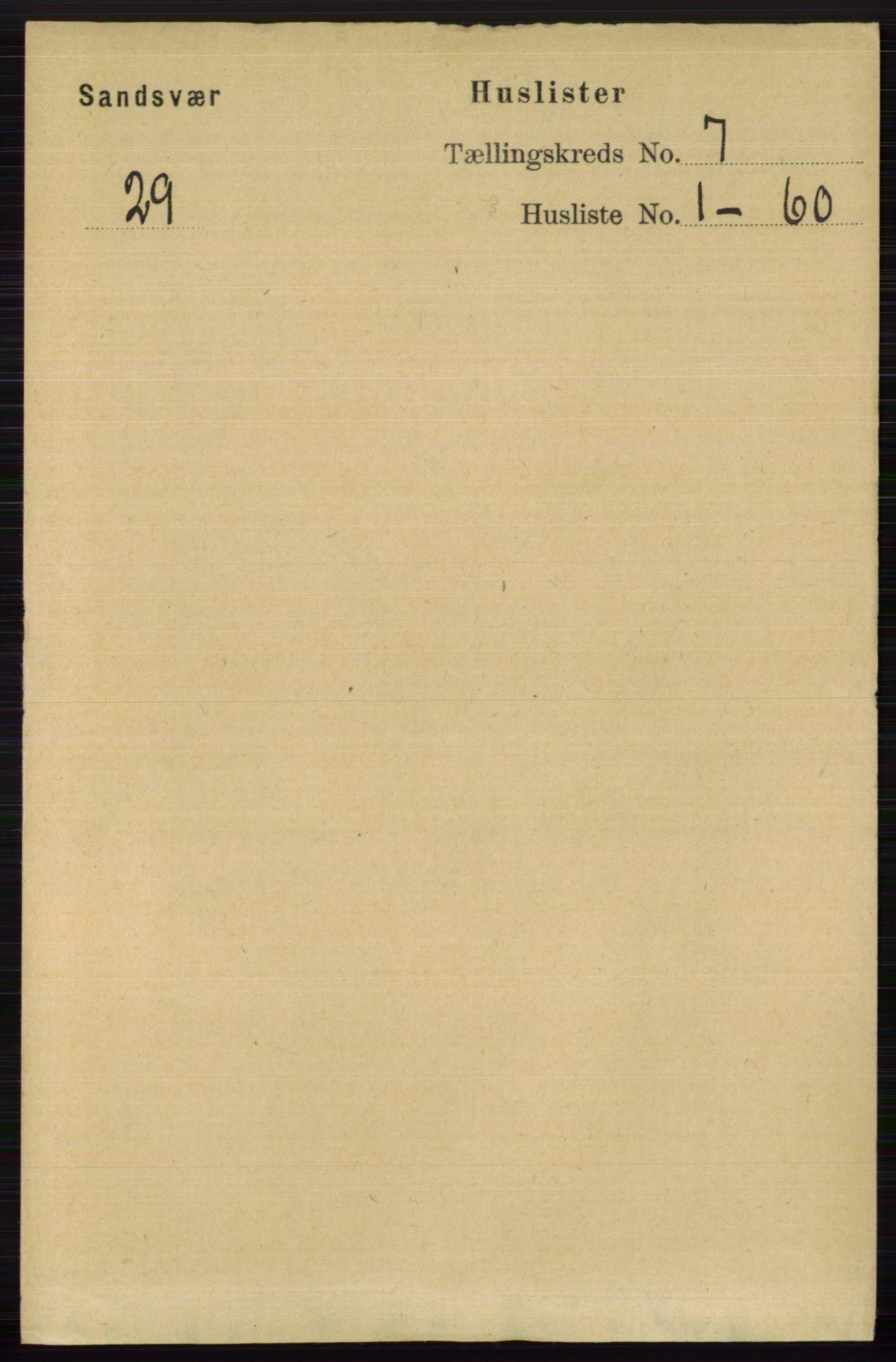 RA, Folketelling 1891 for 0629 Sandsvær herred, 1891, s. 3916