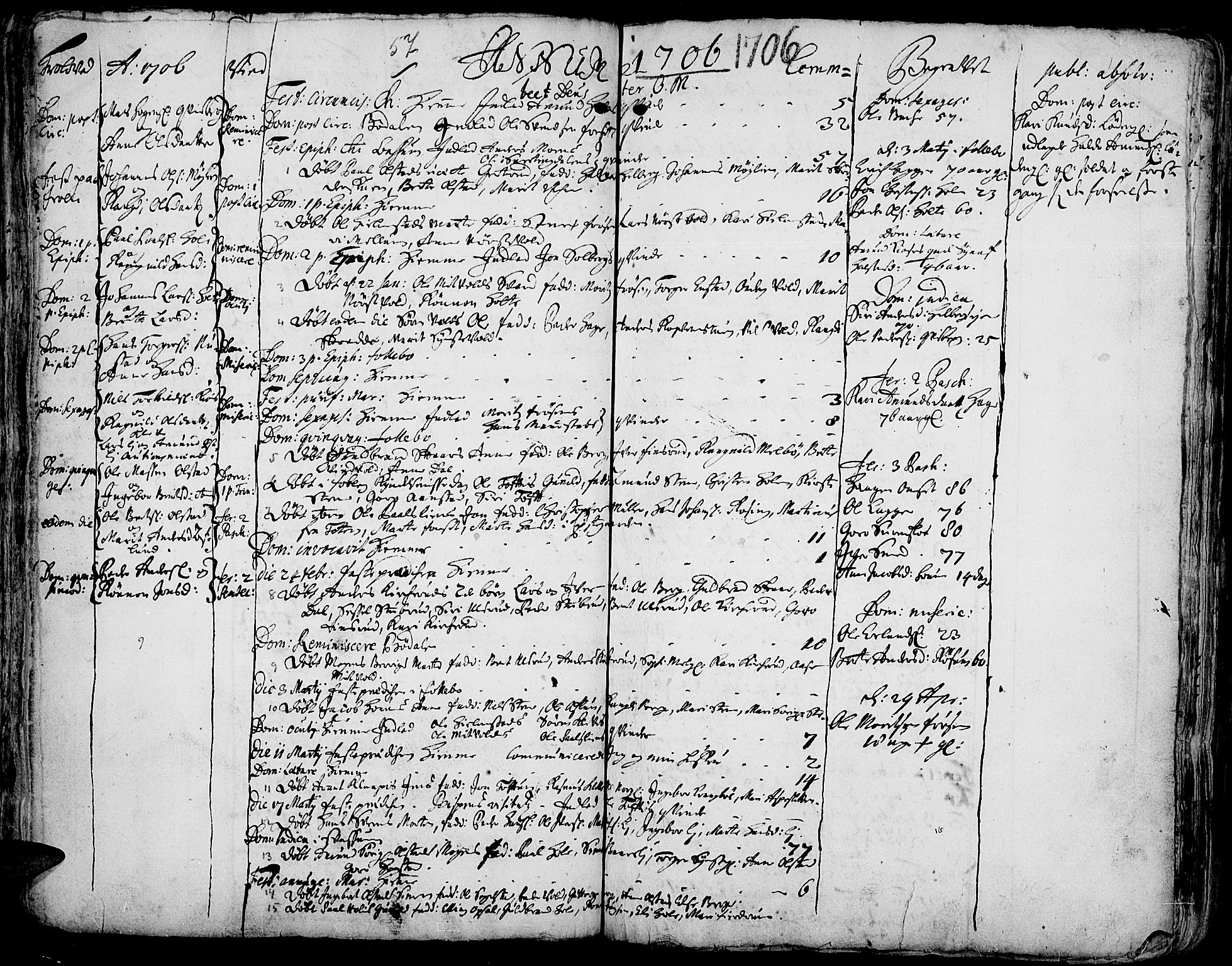 SAH, Gausdal prestekontor, Ministerialbok nr. 1, 1693-1728, s. 57
