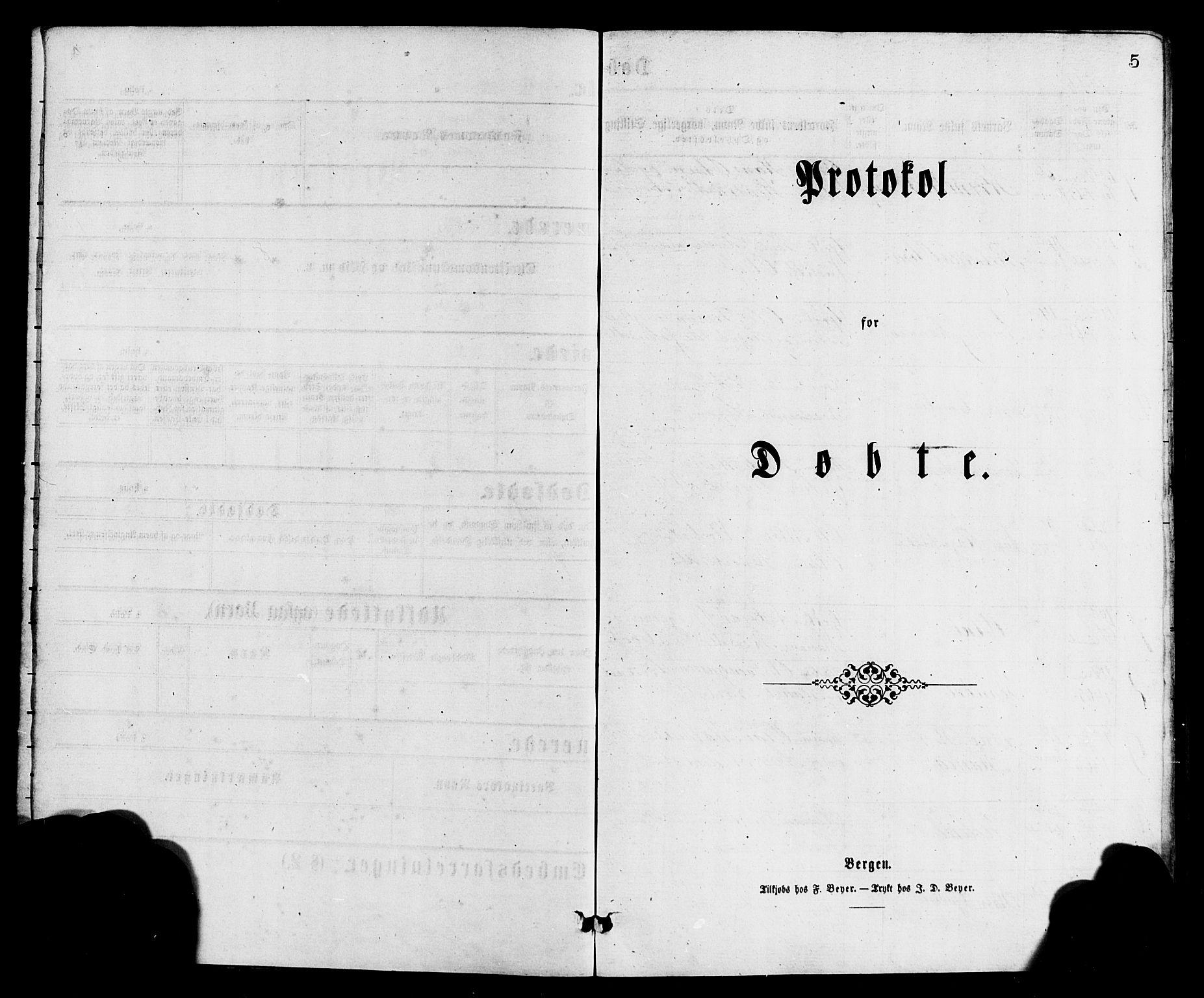 SAB, Bremanger Sokneprestembete, H/Hab: Klokkerbok nr. A 2, 1866-1889, s. 5
