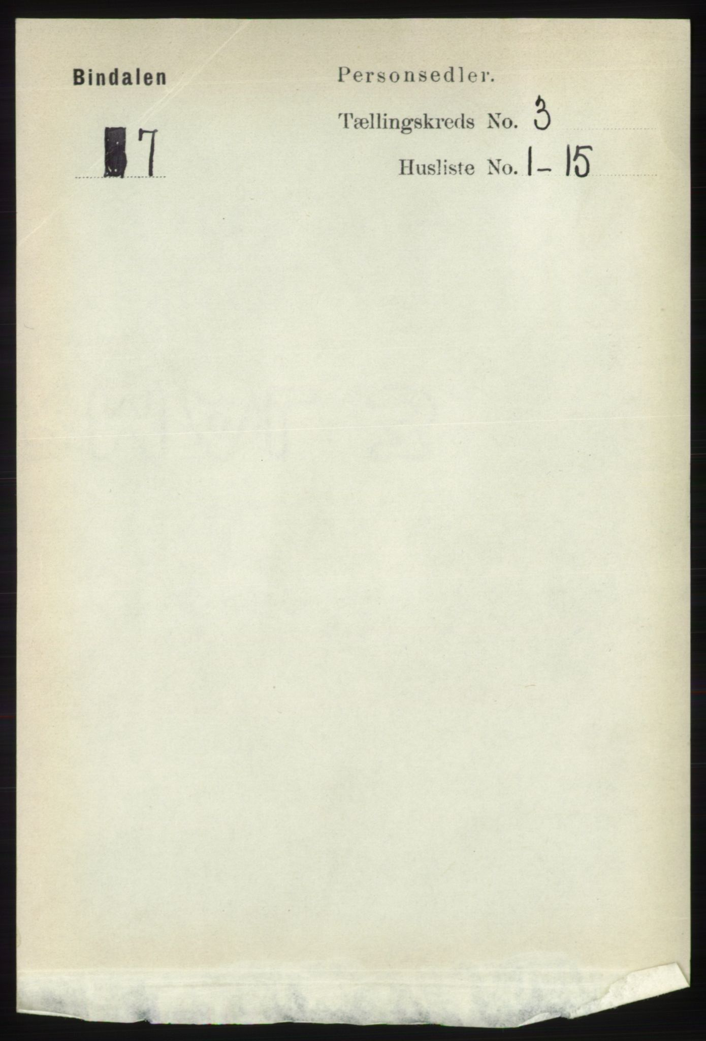 RA, Folketelling 1891 for 1811 Bindal herred, 1891, s. 645