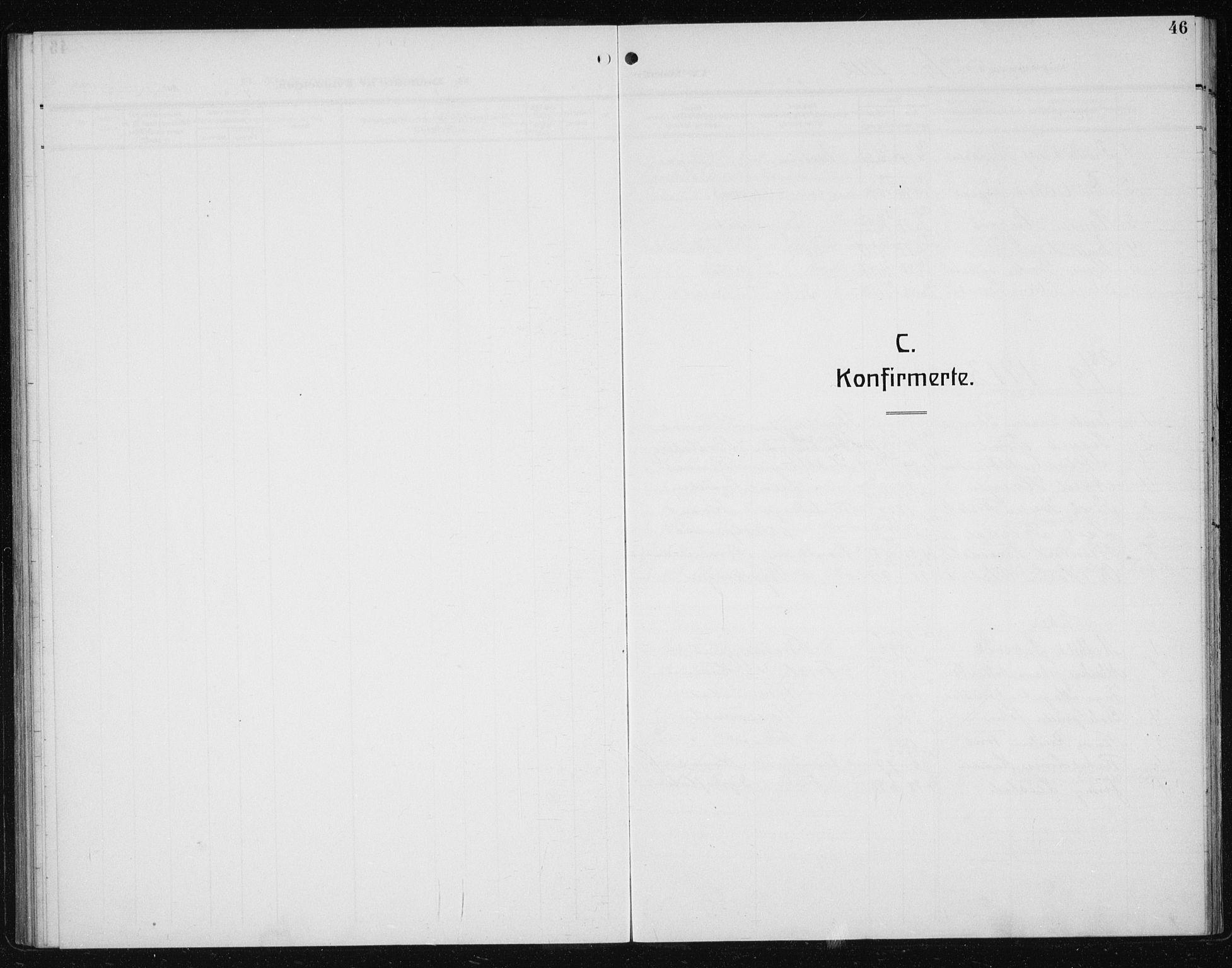 SAT, Ministerialprotokoller, klokkerbøker og fødselsregistre - Sør-Trøndelag, 608/L0342: Klokkerbok nr. 608C08, 1912-1938, s. 46