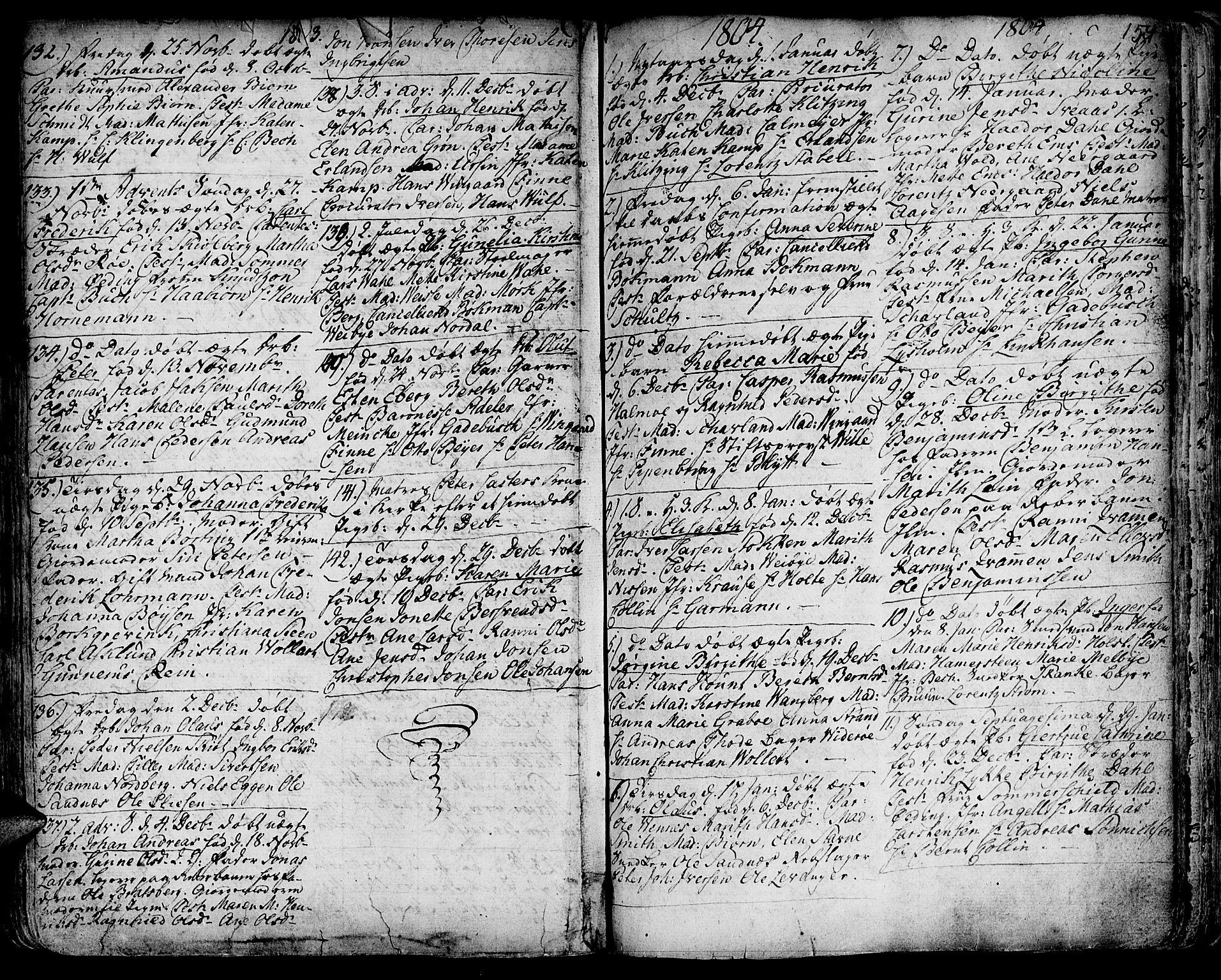 SAT, Ministerialprotokoller, klokkerbøker og fødselsregistre - Sør-Trøndelag, 601/L0039: Ministerialbok nr. 601A07, 1770-1819, s. 154