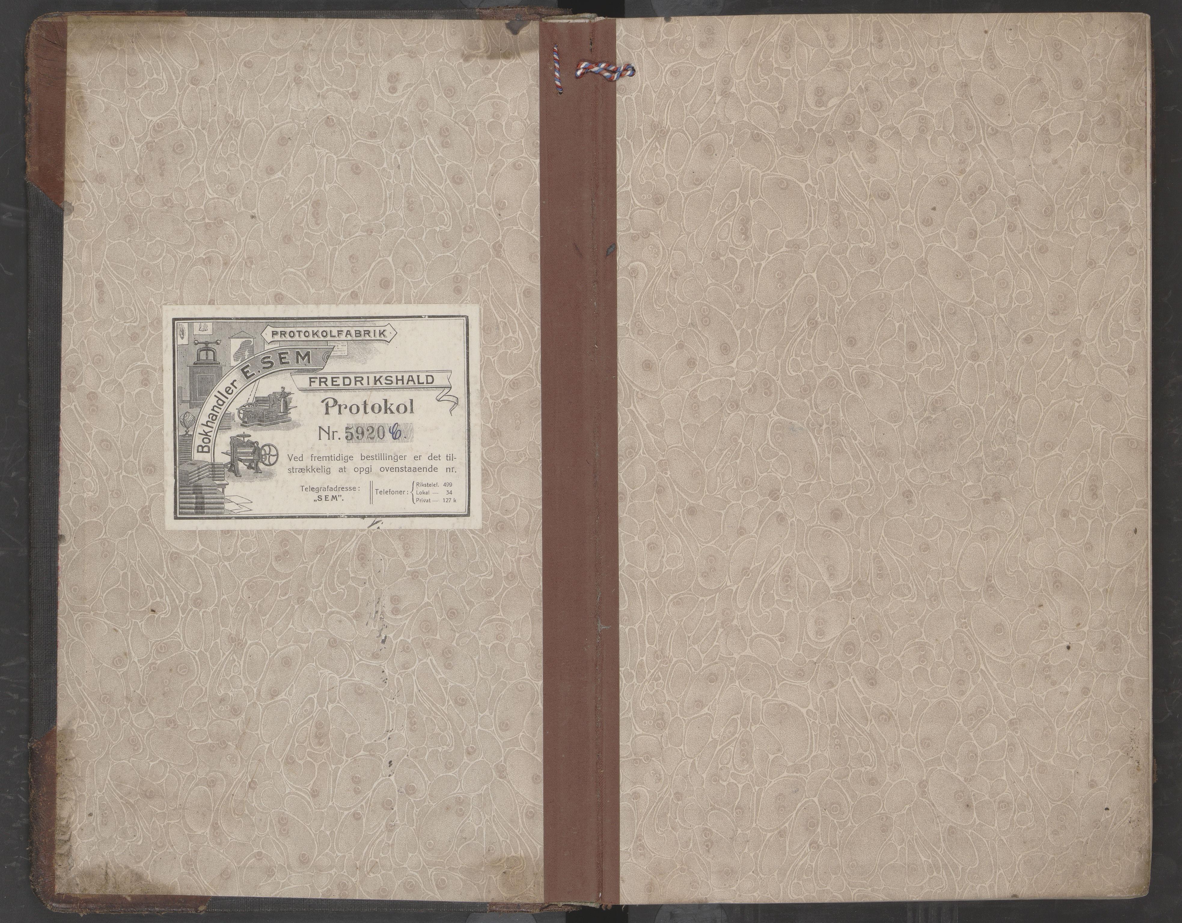 AIN, Nesna kommune. Formannskapet, 100/L0006: Møtebok, 1912-1918