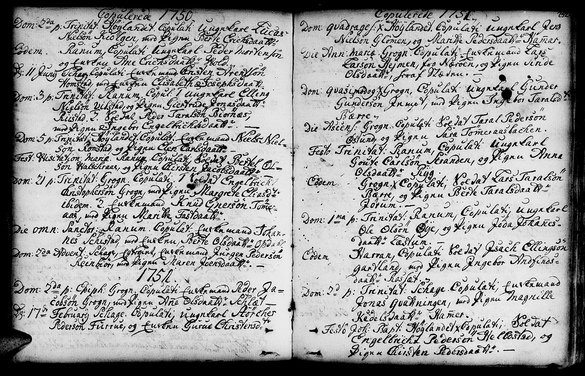 SAT, Ministerialprotokoller, klokkerbøker og fødselsregistre - Nord-Trøndelag, 764/L0542: Ministerialbok nr. 764A02, 1748-1779, s. 252