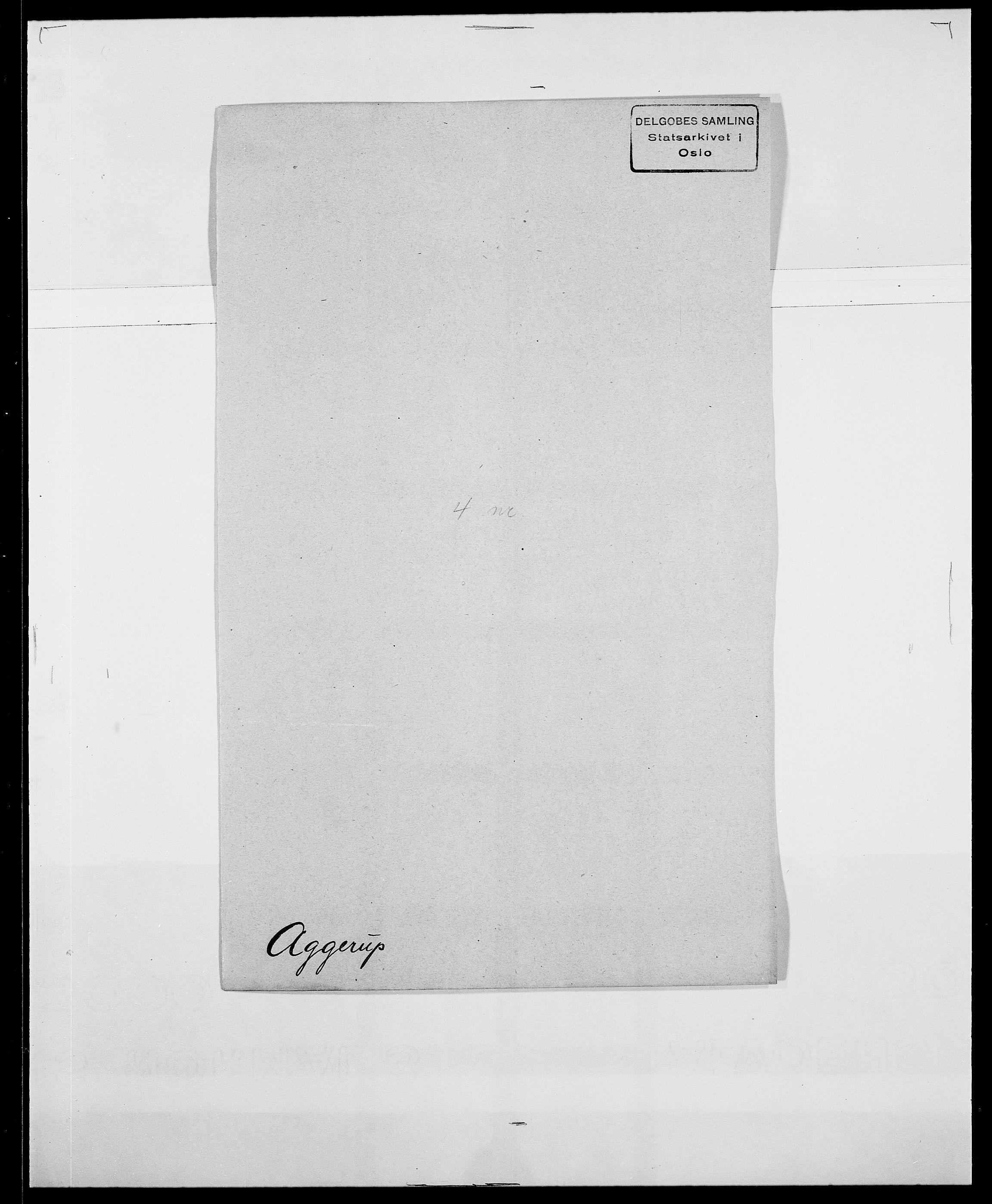 SAO, Delgobe, Charles Antoine - samling, D/Da/L0001: Aabye - Angerman, s. 303