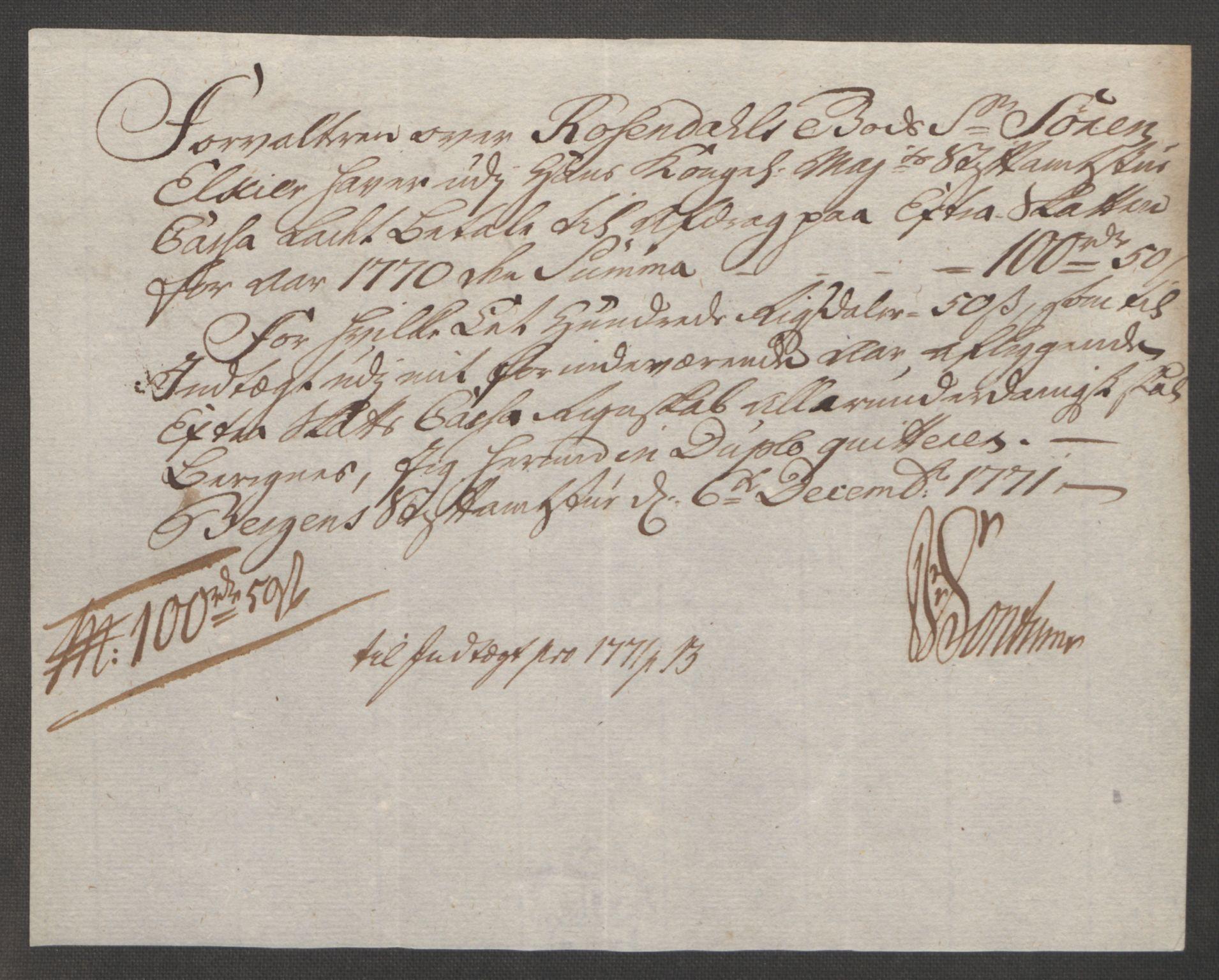 RA, Rentekammeret inntil 1814, Reviderte regnskaper, Fogderegnskap, R49/L3157: Ekstraskatten Rosendal Baroni, 1762-1772, s. 339