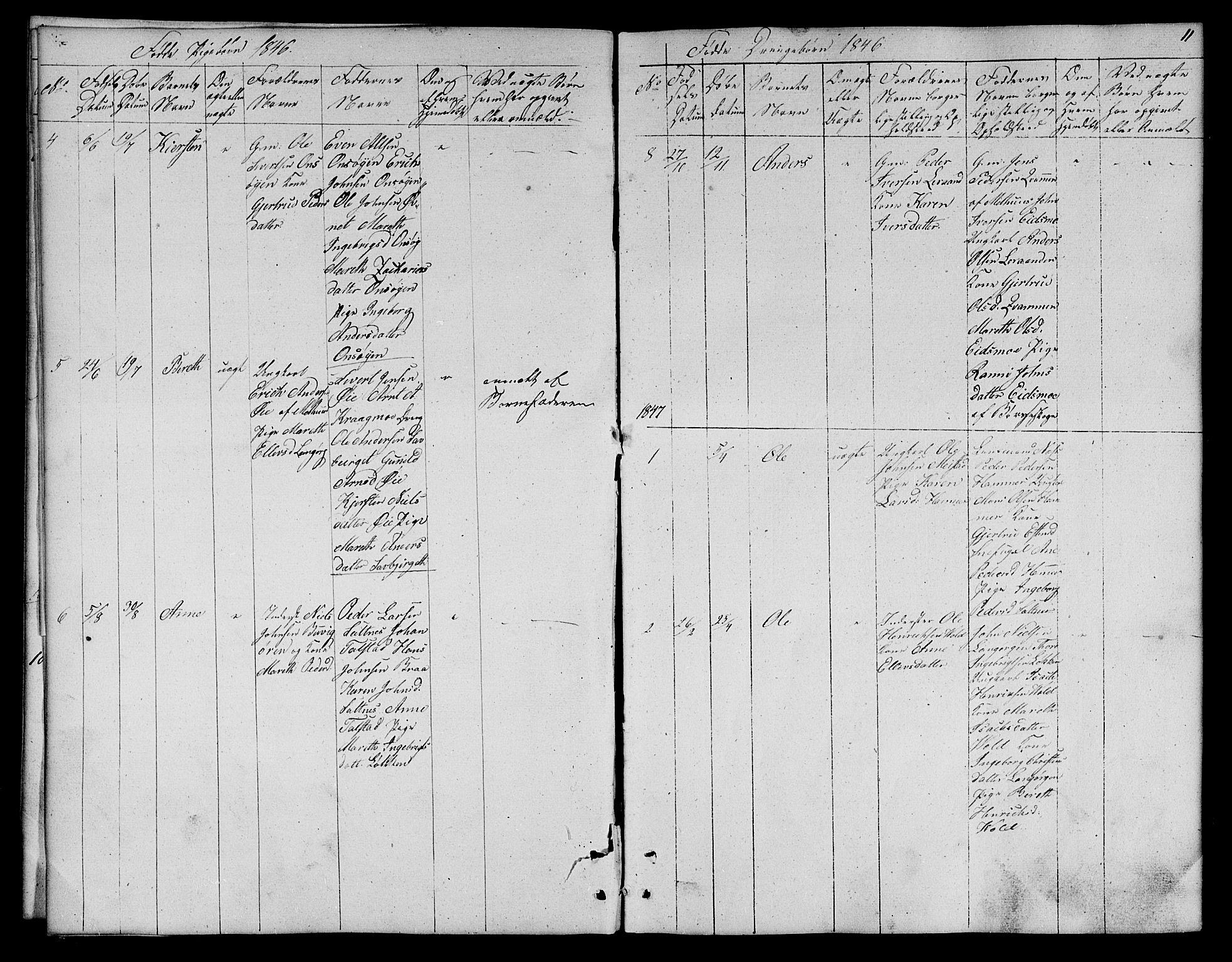 SAT, Ministerialprotokoller, klokkerbøker og fødselsregistre - Sør-Trøndelag, 666/L0789: Klokkerbok nr. 666C02, 1843-1847, s. 11