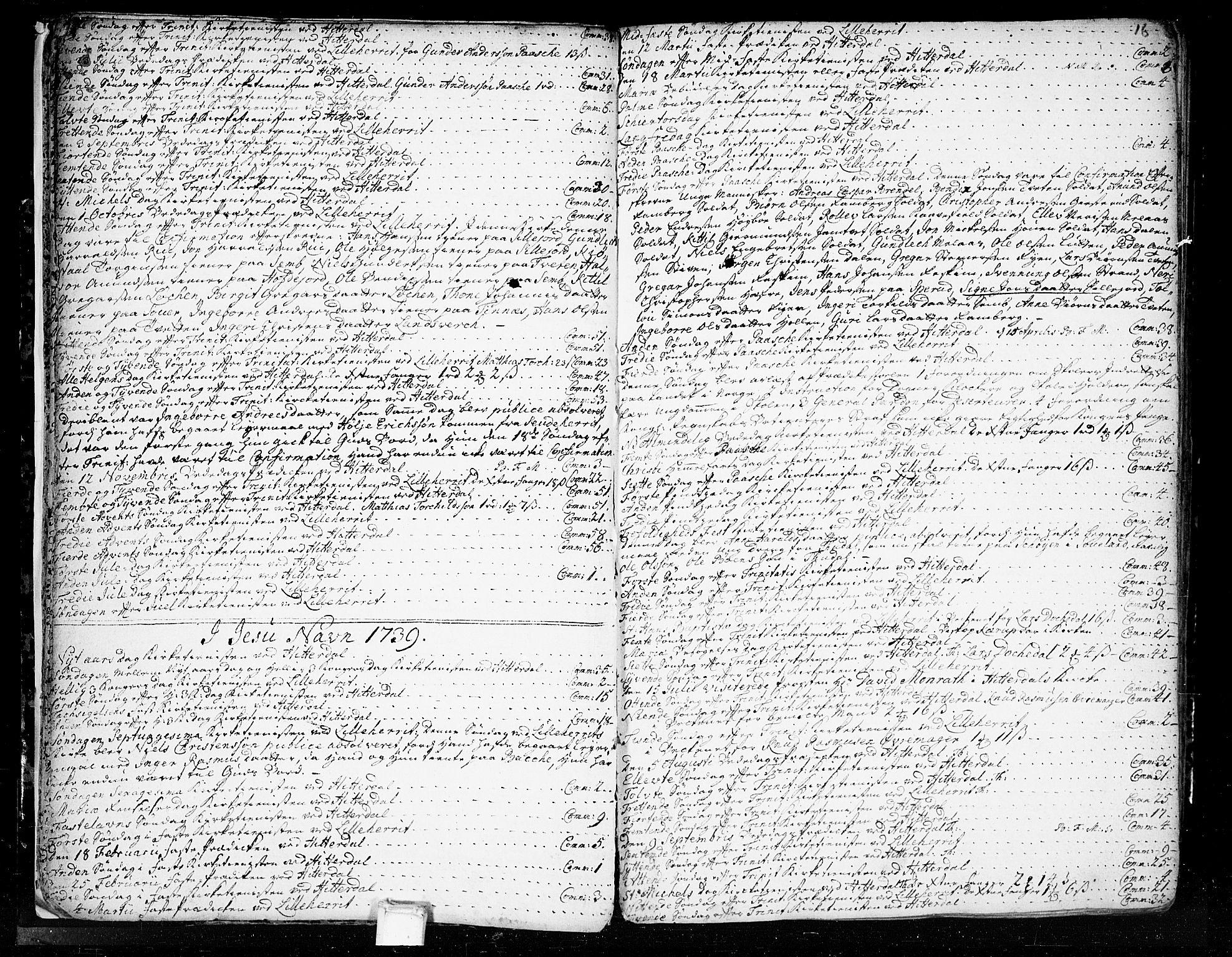 SAKO, Heddal kirkebøker, F/Fa/L0003: Ministerialbok nr. I 3, 1723-1783, s. 16