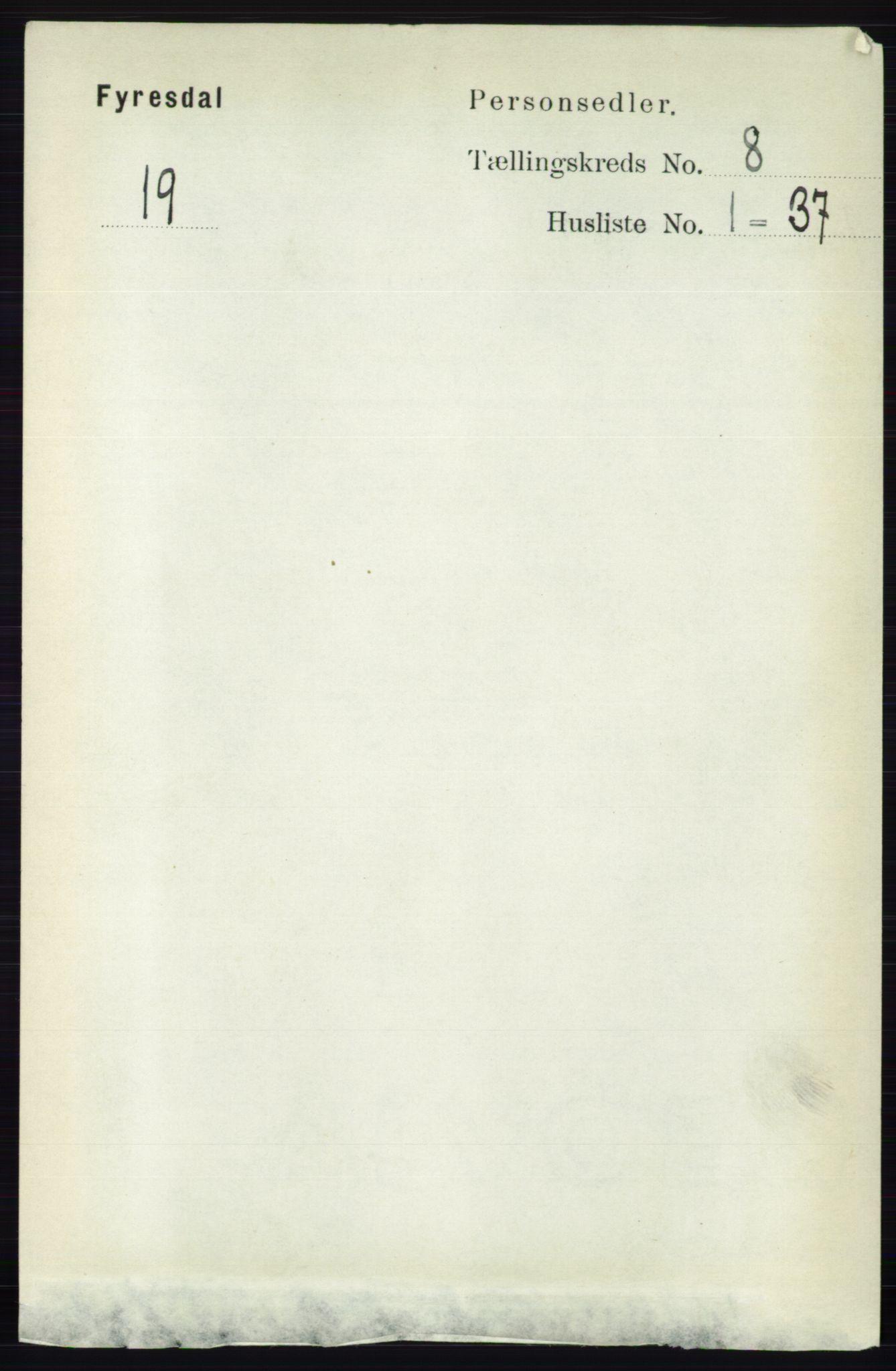 RA, Folketelling 1891 for 0831 Fyresdal herred, 1891, s. 2173