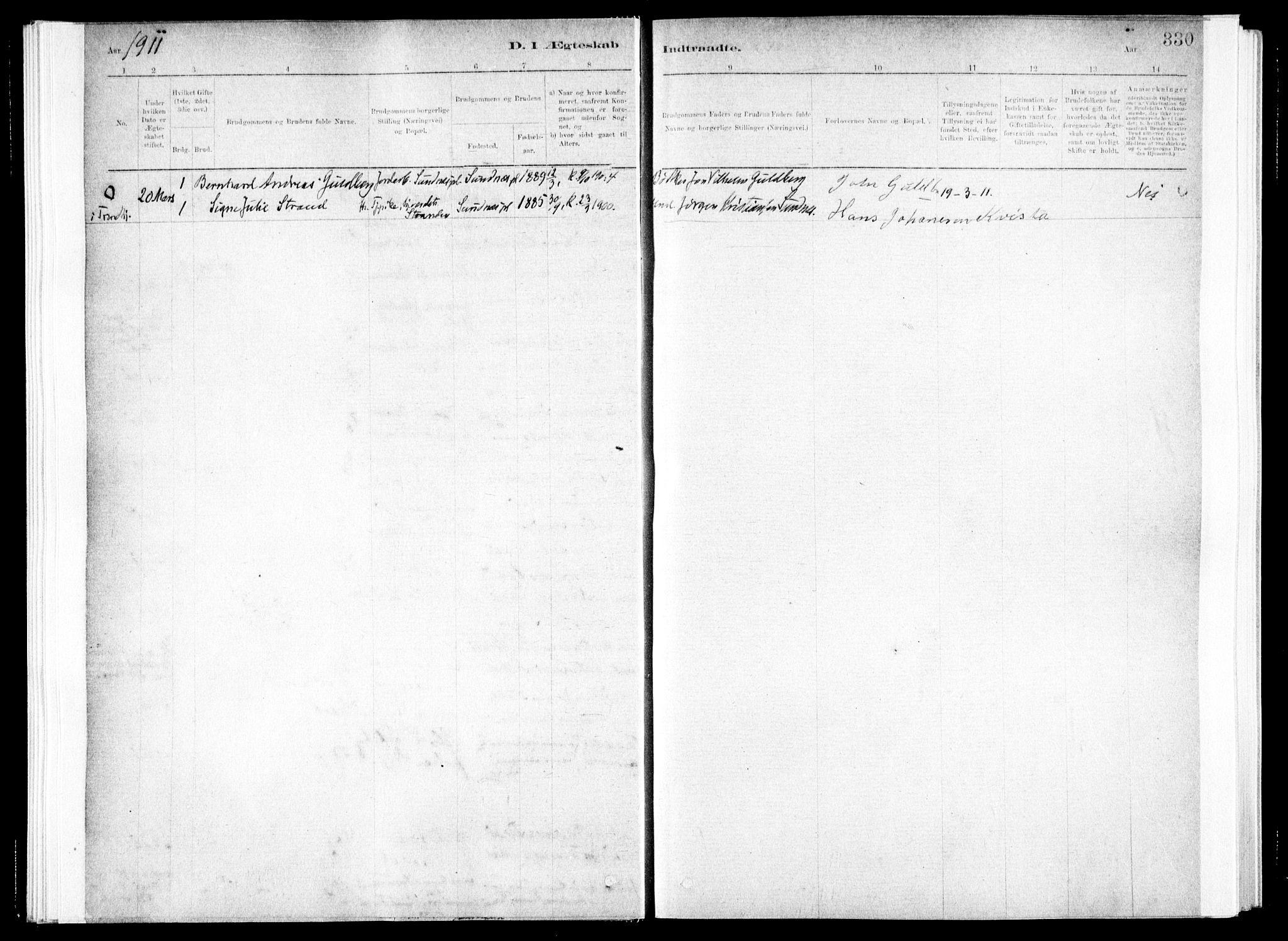 SAT, Ministerialprotokoller, klokkerbøker og fødselsregistre - Nord-Trøndelag, 730/L0285: Ministerialbok nr. 730A10, 1879-1914, s. 330
