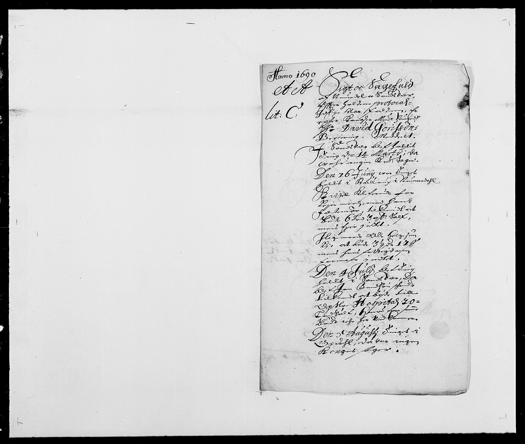RA, Rentekammeret inntil 1814, Reviderte regnskaper, Fogderegnskap, R24/L1573: Fogderegnskap Numedal og Sandsvær, 1687-1691, s. 423