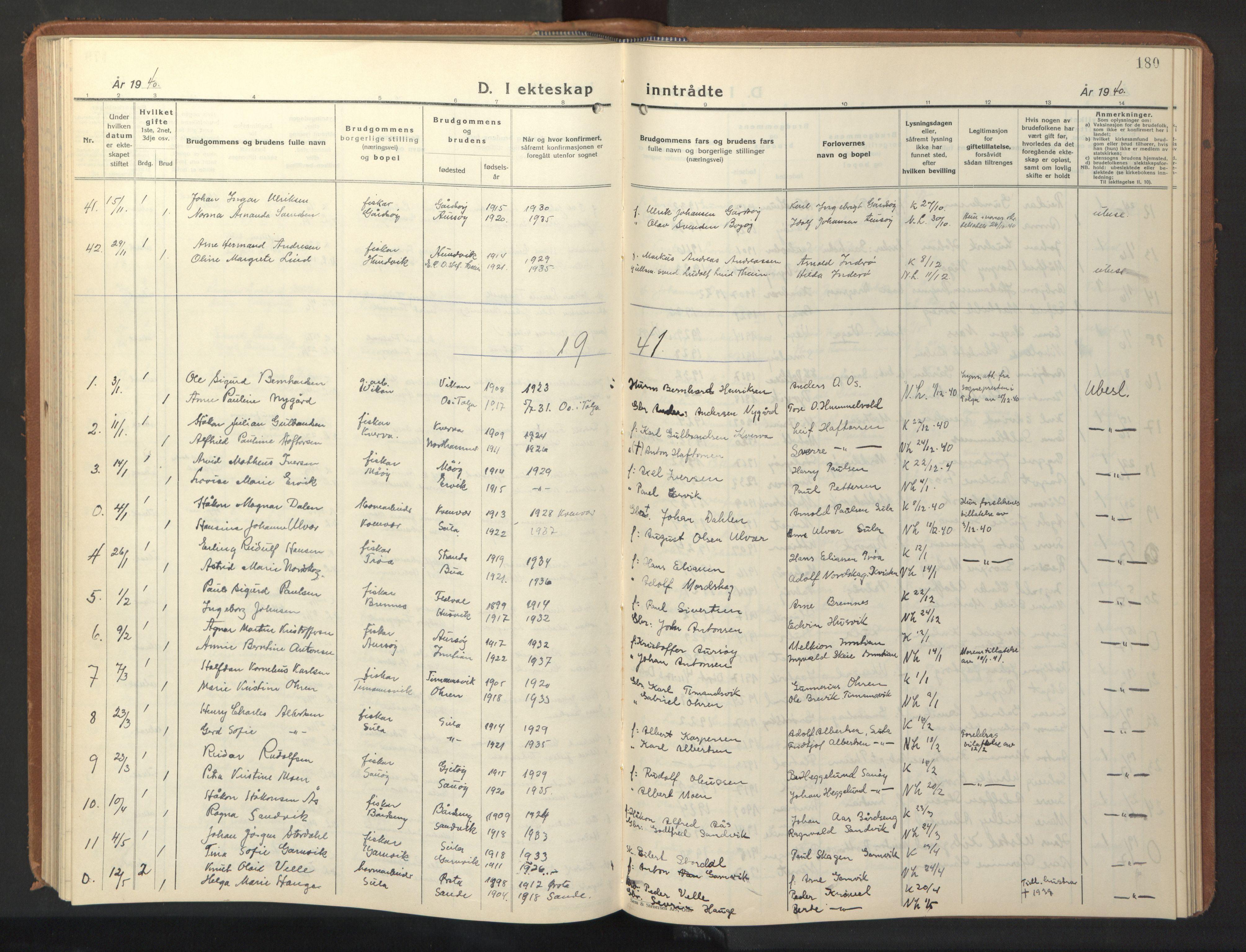 SAT, Ministerialprotokoller, klokkerbøker og fødselsregistre - Sør-Trøndelag, 640/L0590: Klokkerbok nr. 640C07, 1935-1948, s. 180