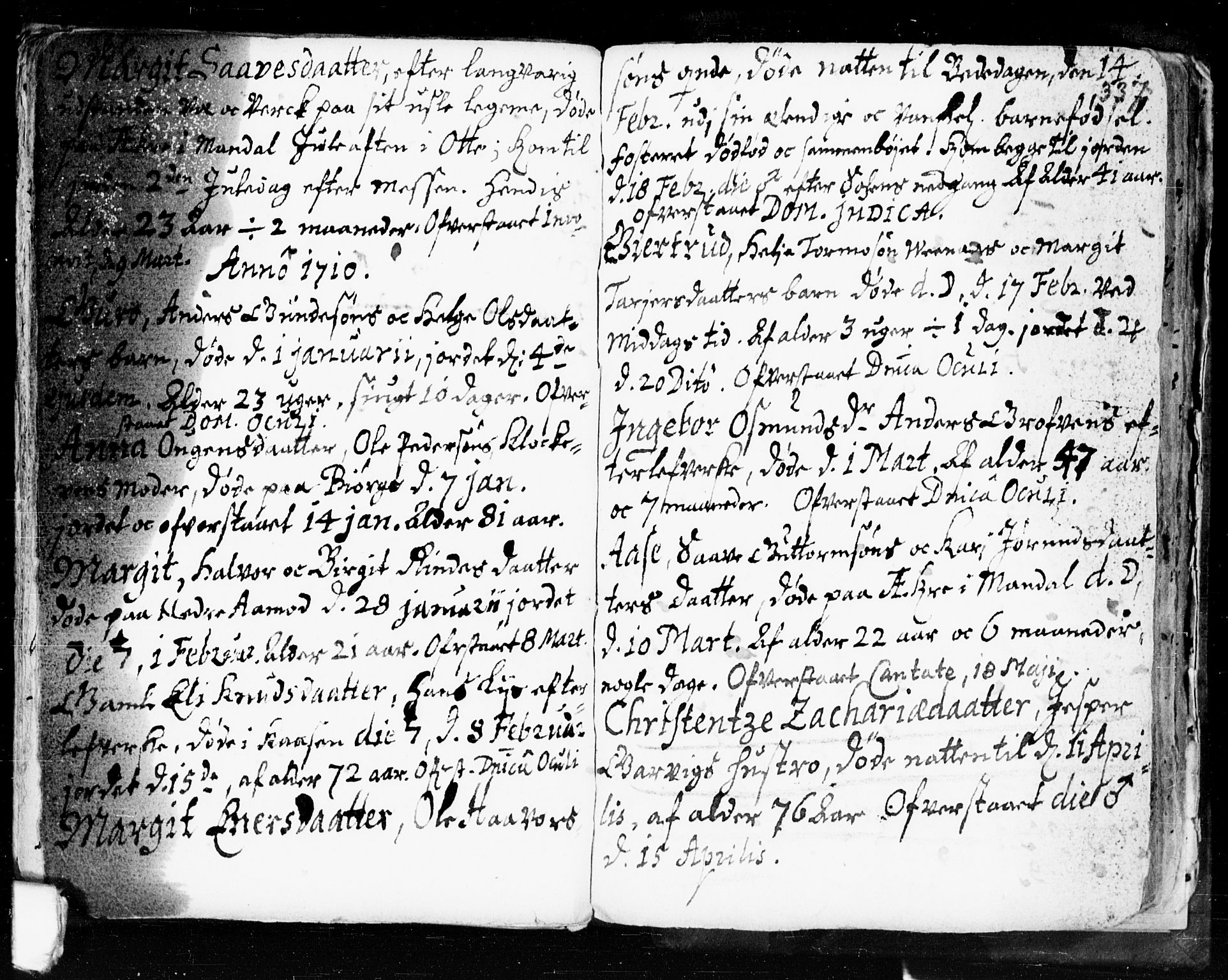 SAKO, Seljord kirkebøker, F/Fa/L0002: Ministerialbok nr. I 2, 1689-1713, s. 336-337