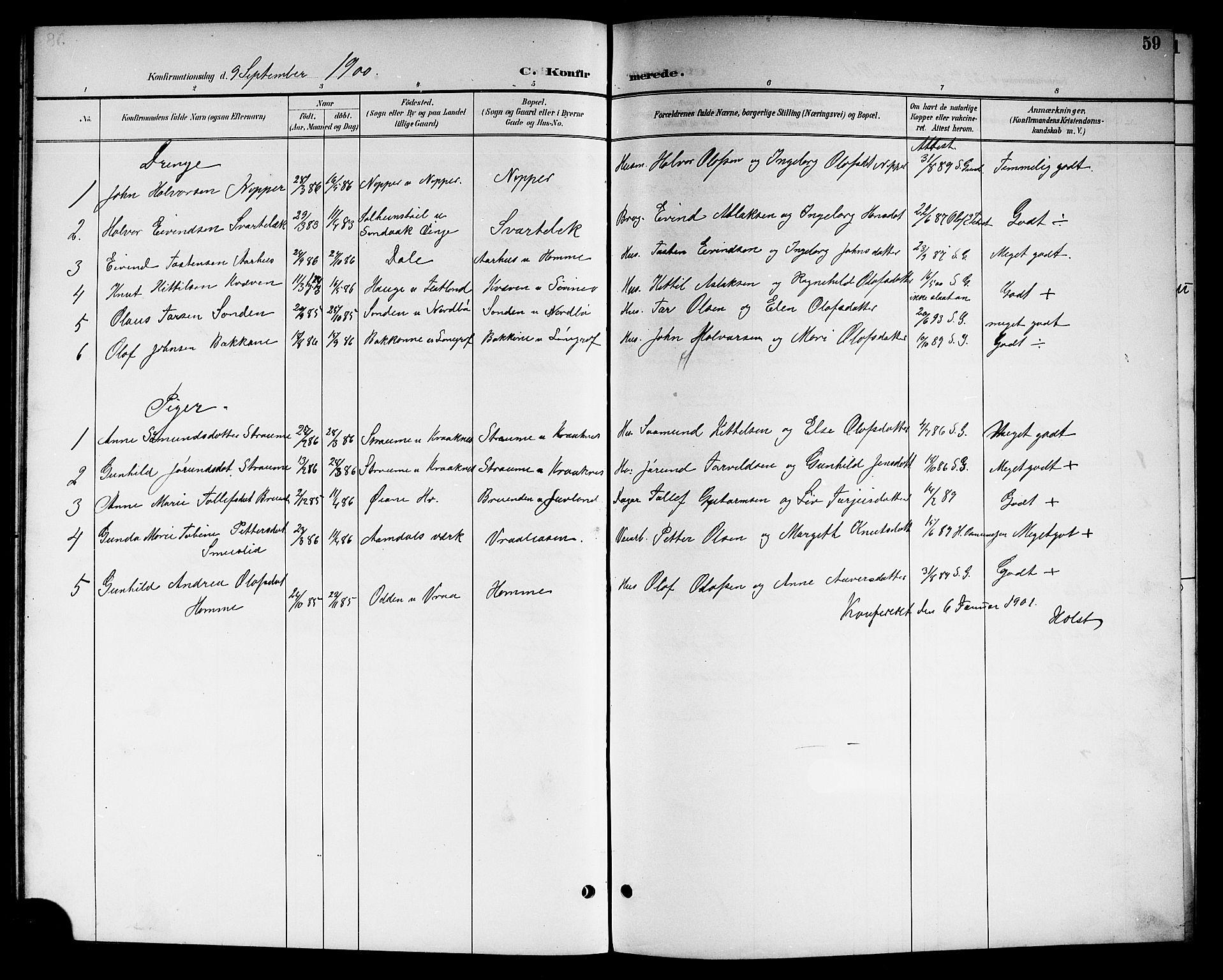 SAKO, Kviteseid kirkebøker, G/Gc/L0001: Klokkerbok nr. III 1, 1893-1916, s. 59