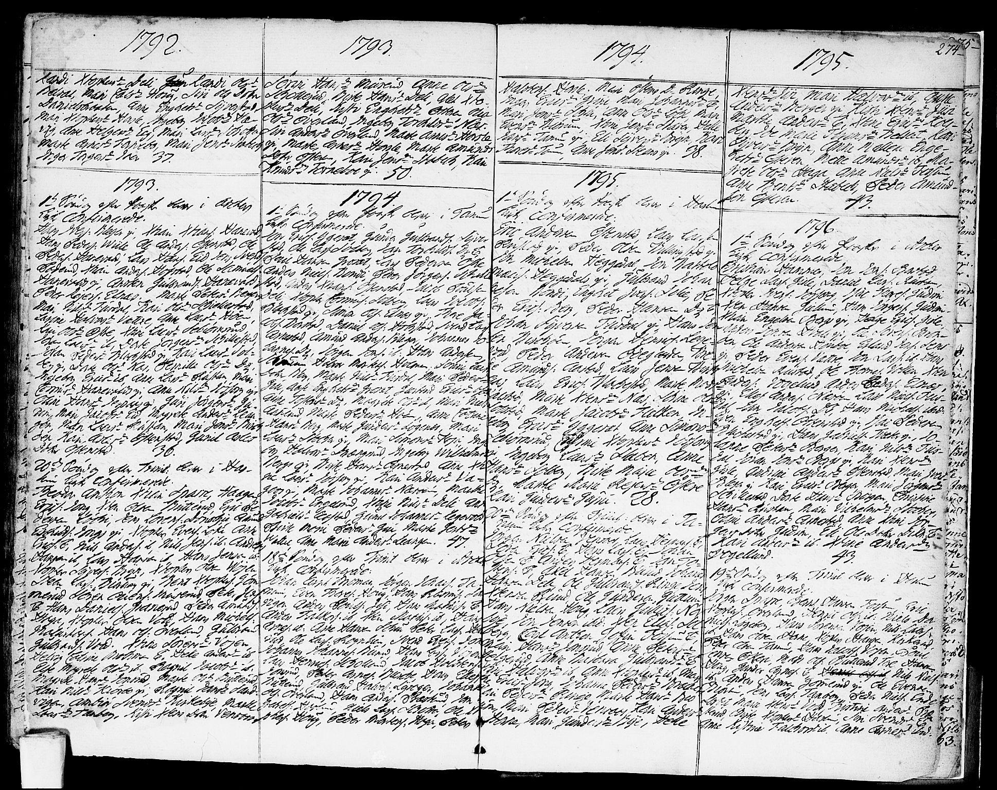 SAO, Asker prestekontor Kirkebøker, F/Fa/L0003: Ministerialbok nr. I 3, 1767-1807, s. 274