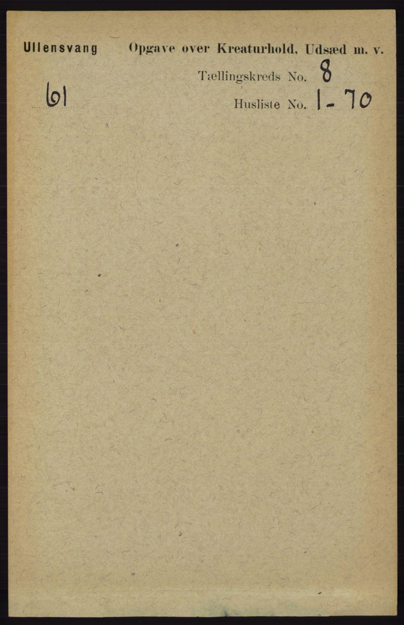RA, Folketelling 1891 for 1230 Ullensvang herred, 1891, s. 7431