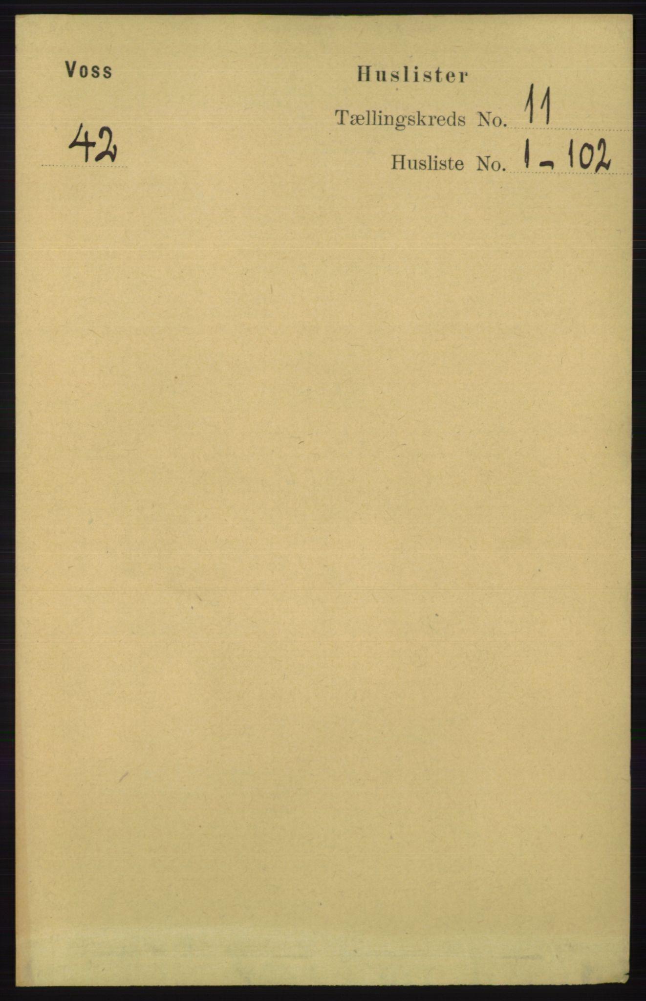 RA, Folketelling 1891 for 1235 Voss herred, 1891, s. 5724