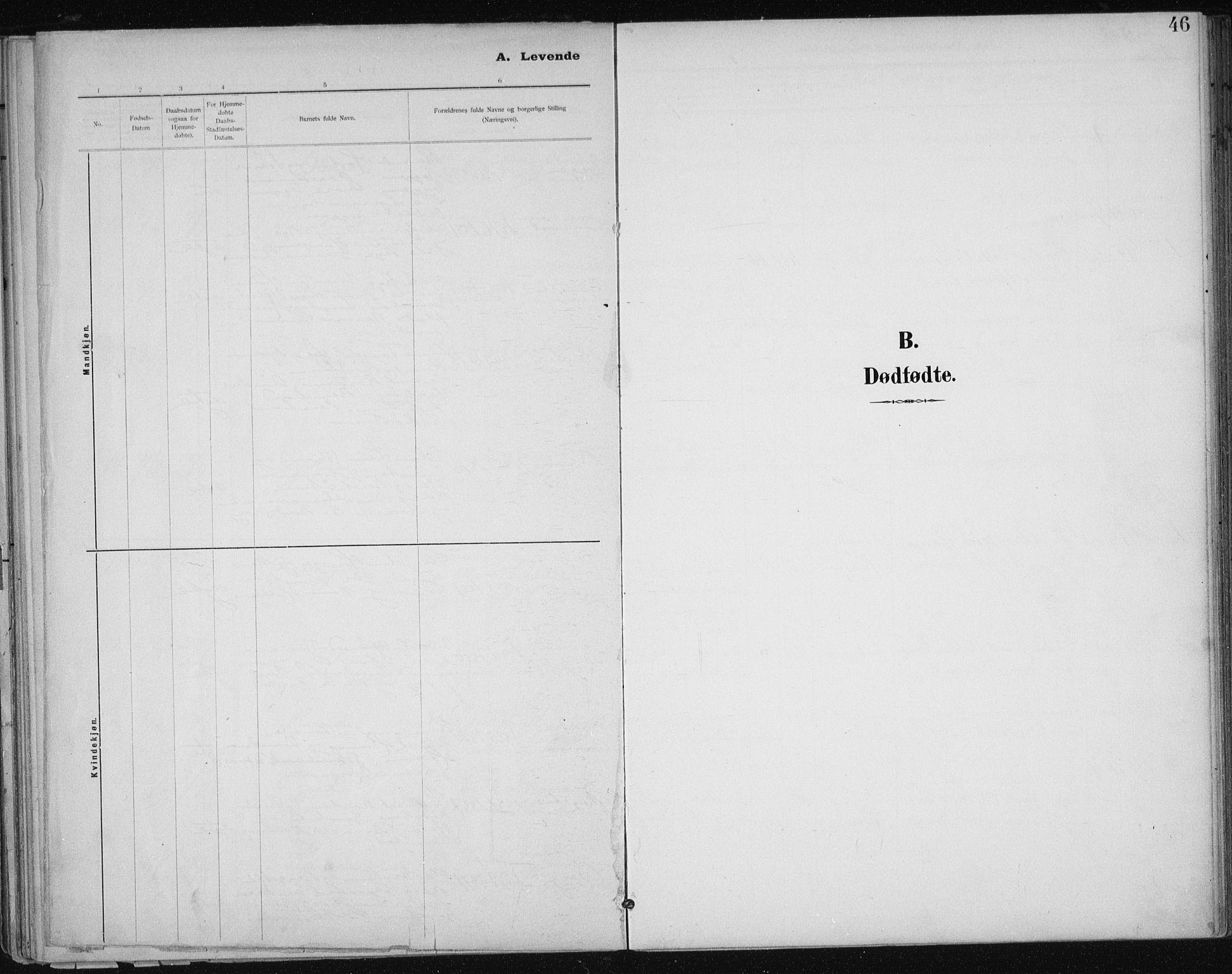 SAT, Ministerialprotokoller, klokkerbøker og fødselsregistre - Sør-Trøndelag, 612/L0380: Ministerialbok nr. 612A12, 1898-1907, s. 46