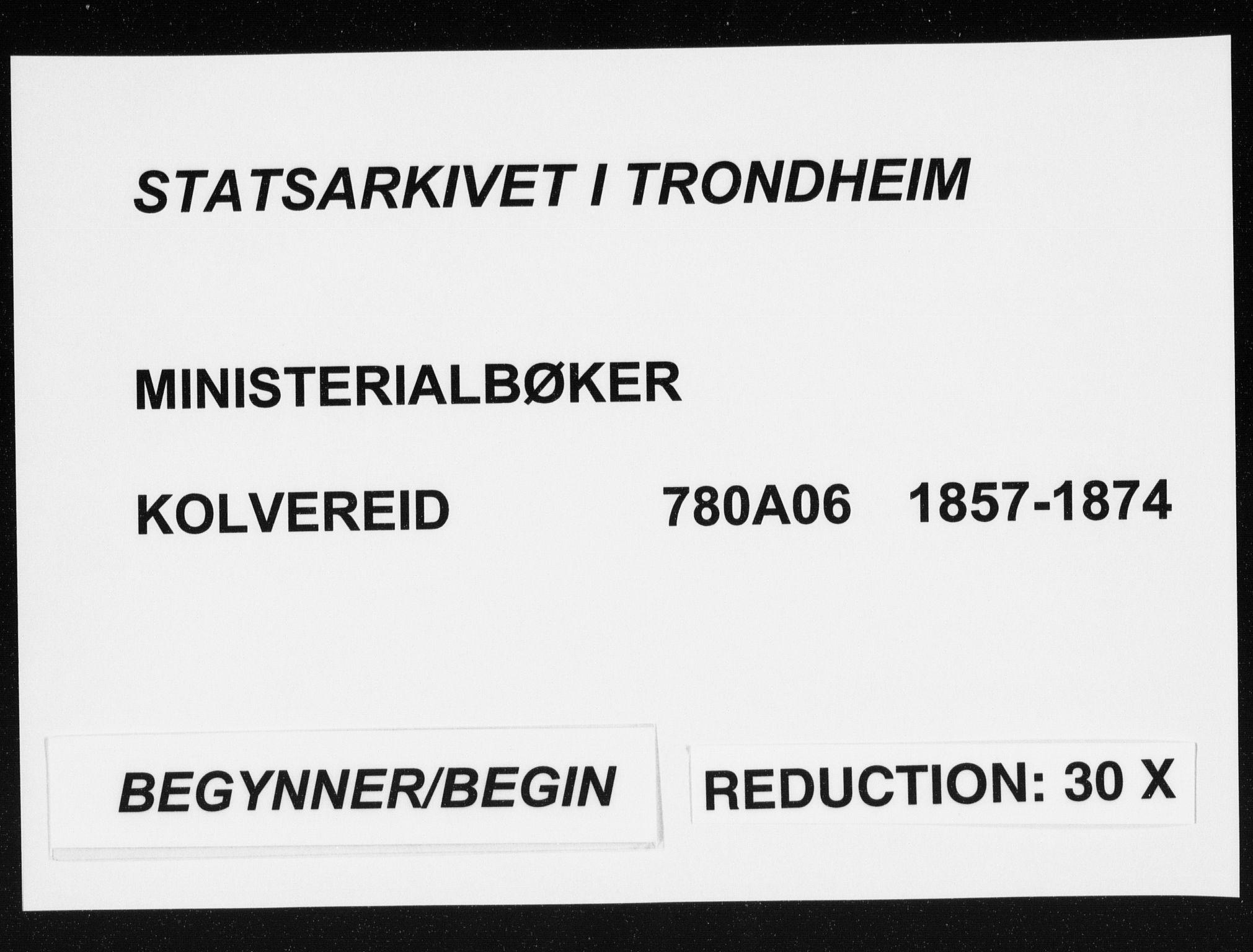 SAT, Ministerialprotokoller, klokkerbøker og fødselsregistre - Nord-Trøndelag, 780/L0641: Ministerialbok nr. 780A06, 1857-1874