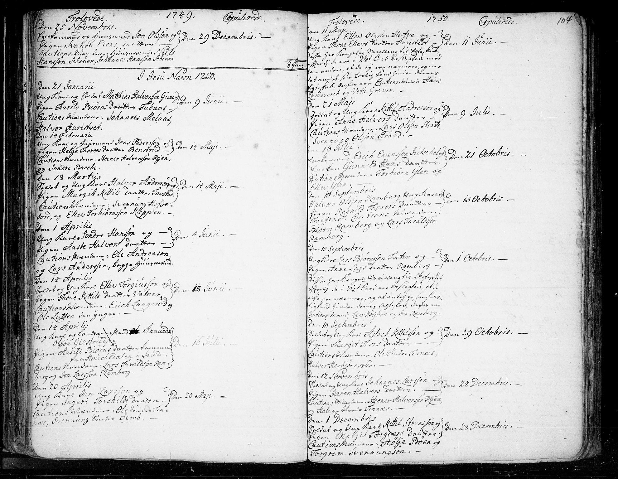SAKO, Heddal kirkebøker, F/Fa/L0003: Ministerialbok nr. I 3, 1723-1783, s. 104