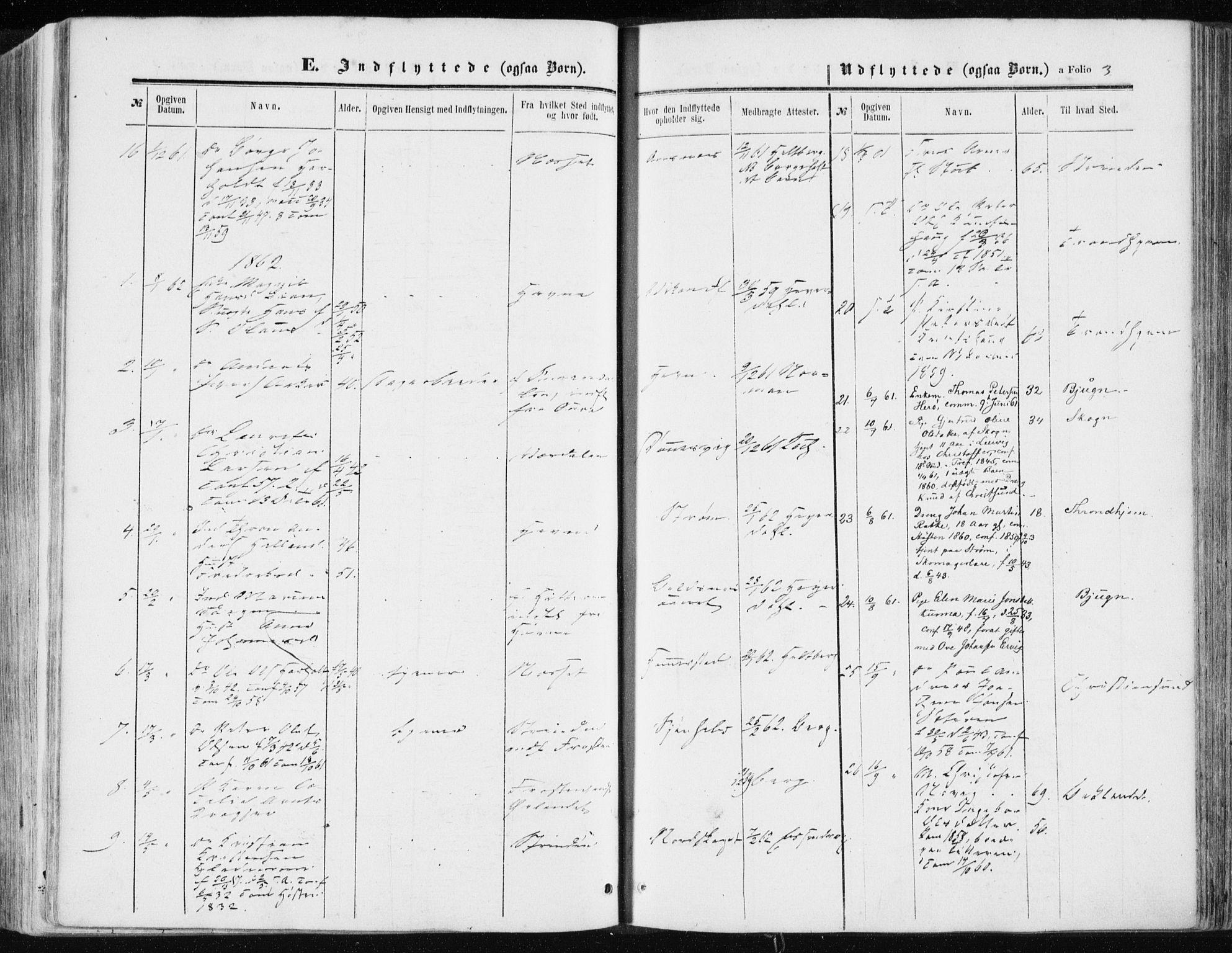 SAT, Ministerialprotokoller, klokkerbøker og fødselsregistre - Sør-Trøndelag, 634/L0531: Ministerialbok nr. 634A07, 1861-1870, s. 3