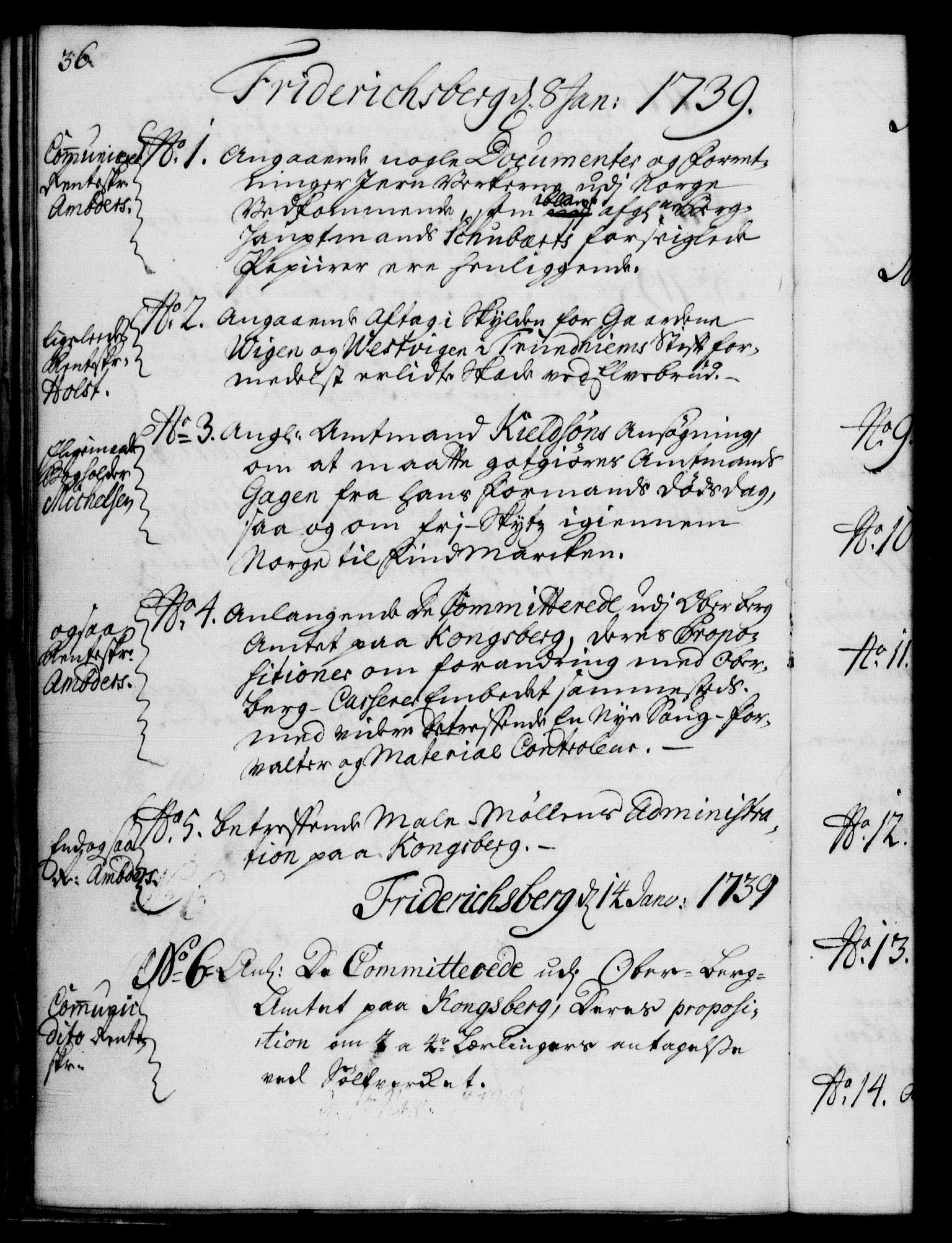 RA, Rentekammeret, Kammerkanselliet, G/Gf/Gfb/L0004: Register til norske relasjons- og resolusjonsprotokoller (merket RK 52.99), 1736-1743, s. 36