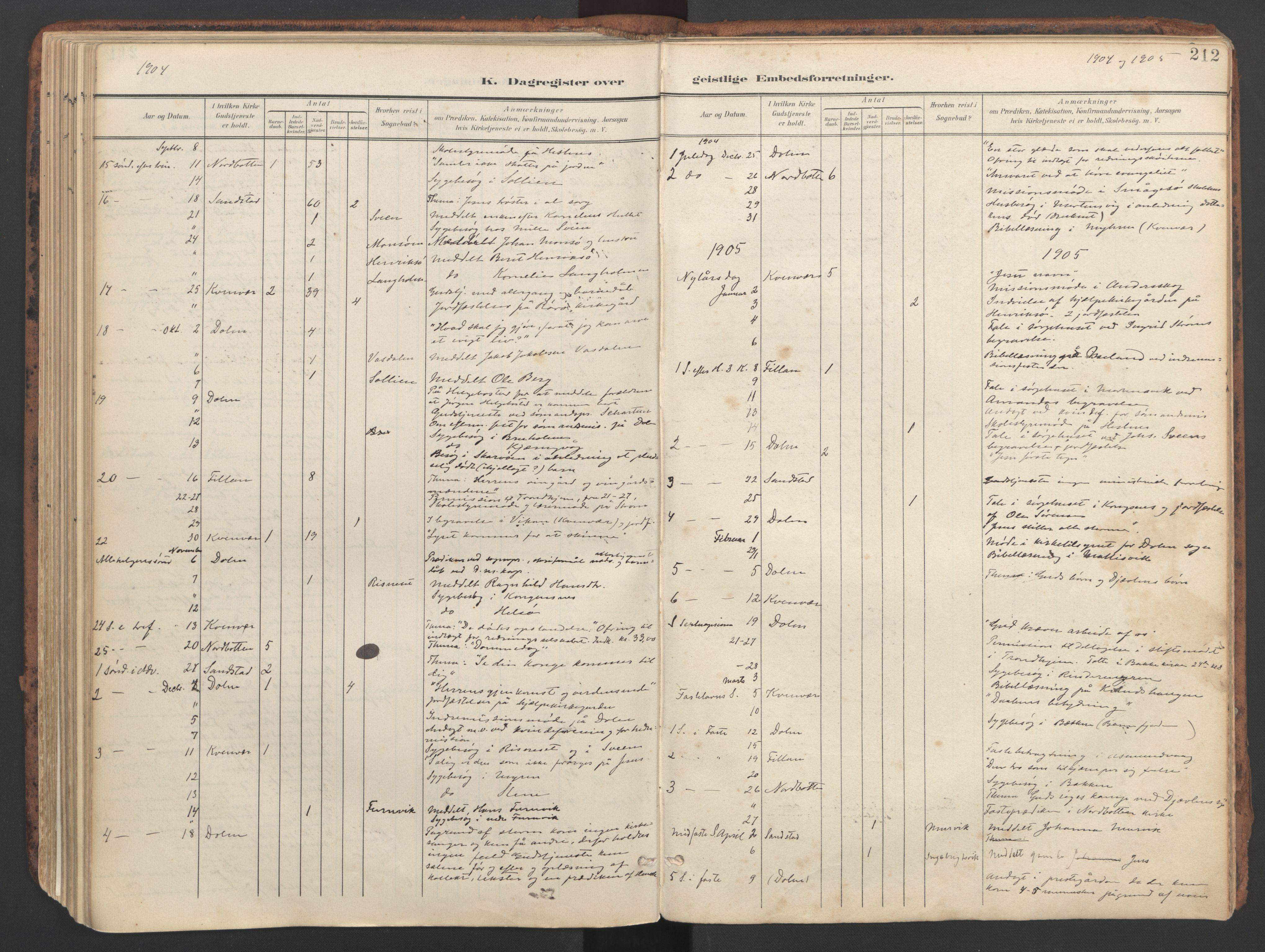 SAT, Ministerialprotokoller, klokkerbøker og fødselsregistre - Sør-Trøndelag, 634/L0537: Ministerialbok nr. 634A13, 1896-1922, s. 212
