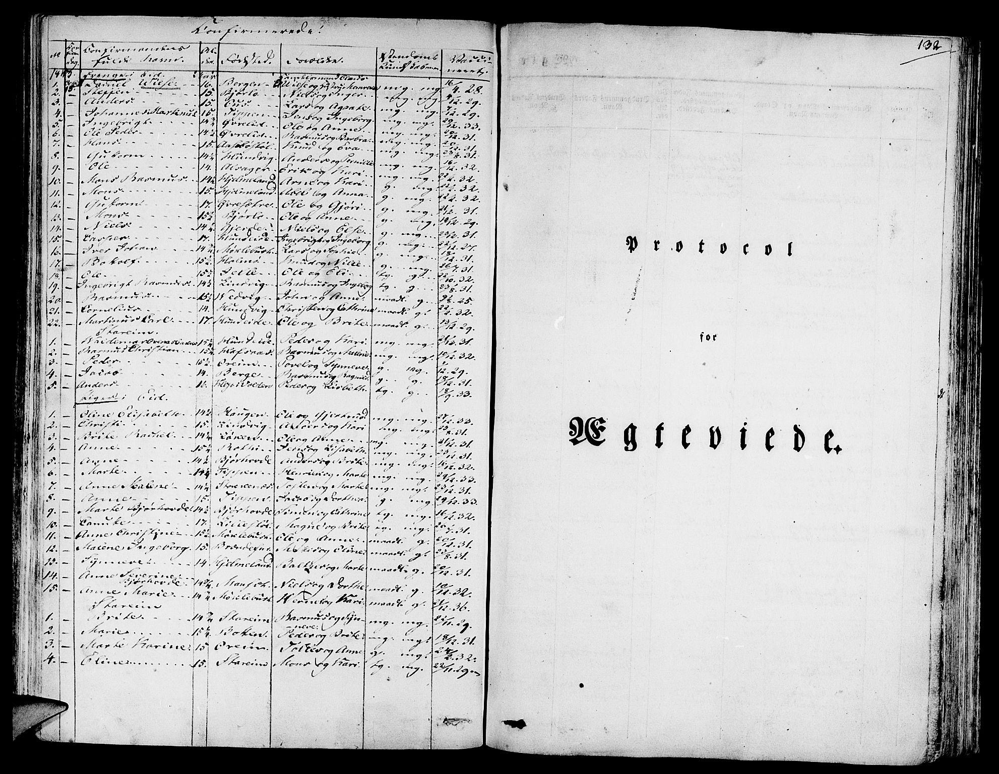 SAB, Eid Sokneprestembete, H/Haa: Ministerialbok nr. A 6, 1831-1843, s. 132