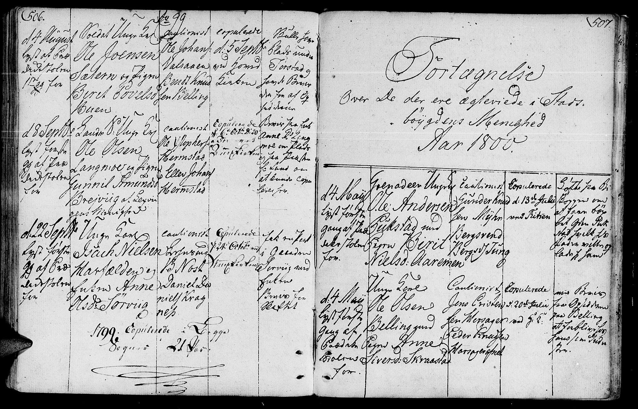 SAT, Ministerialprotokoller, klokkerbøker og fødselsregistre - Sør-Trøndelag, 646/L0606: Ministerialbok nr. 646A04, 1791-1805, s. 506-507