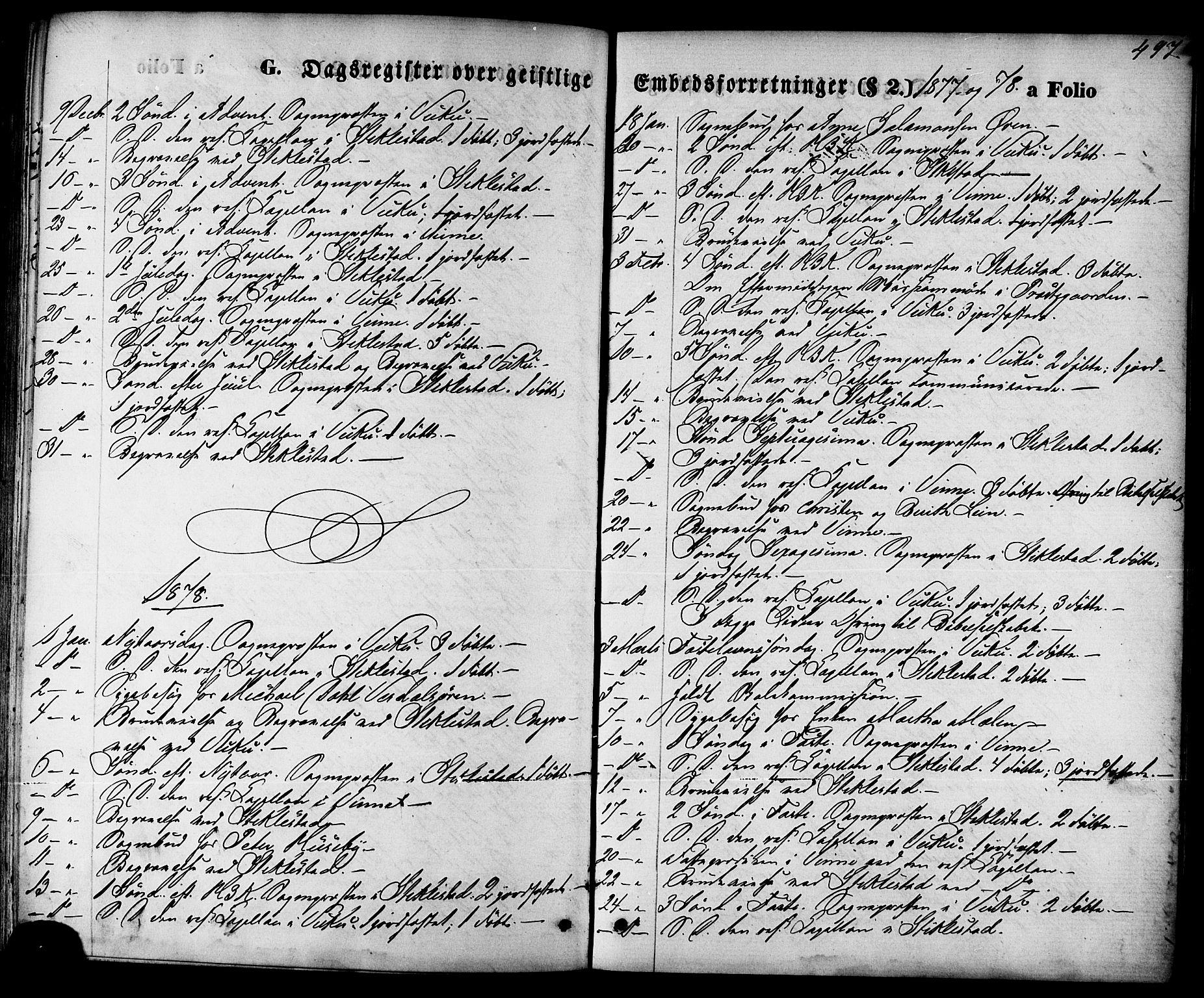 SAT, Ministerialprotokoller, klokkerbøker og fødselsregistre - Nord-Trøndelag, 723/L0242: Ministerialbok nr. 723A11, 1870-1880, s. 497