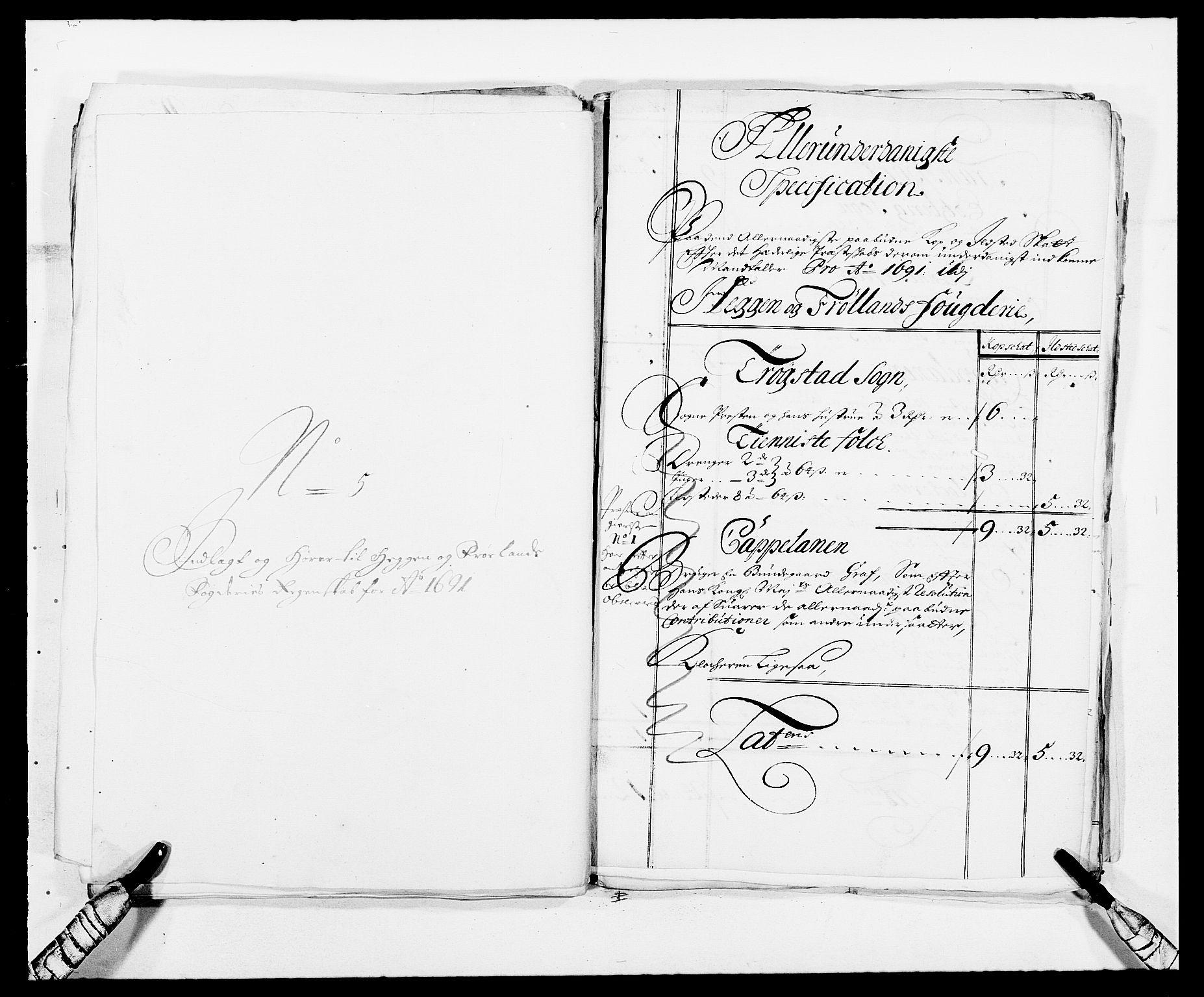 RA, Rentekammeret inntil 1814, Reviderte regnskaper, Fogderegnskap, R06/L0283: Fogderegnskap Heggen og Frøland, 1691-1693, s. 71
