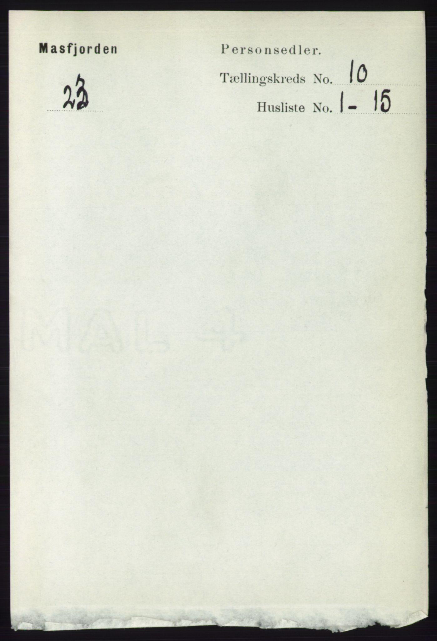 RA, Folketelling 1891 for 1266 Masfjorden herred, 1891, s. 2001