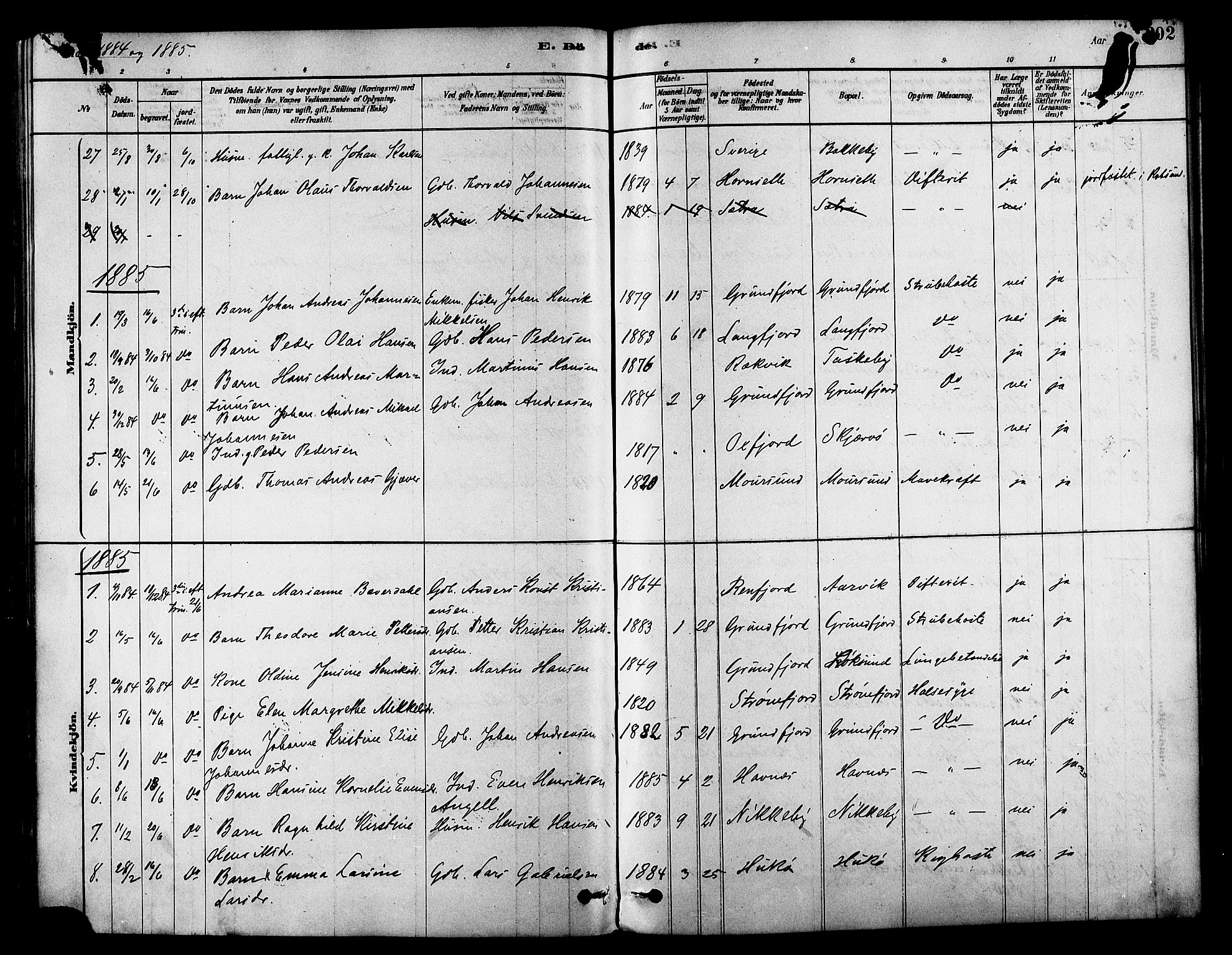 SATØ, Skjervøy sokneprestkontor, H/Ha/Haa/L0009kirke: Ministerialbok nr. 9, 1878-1887, s. 202