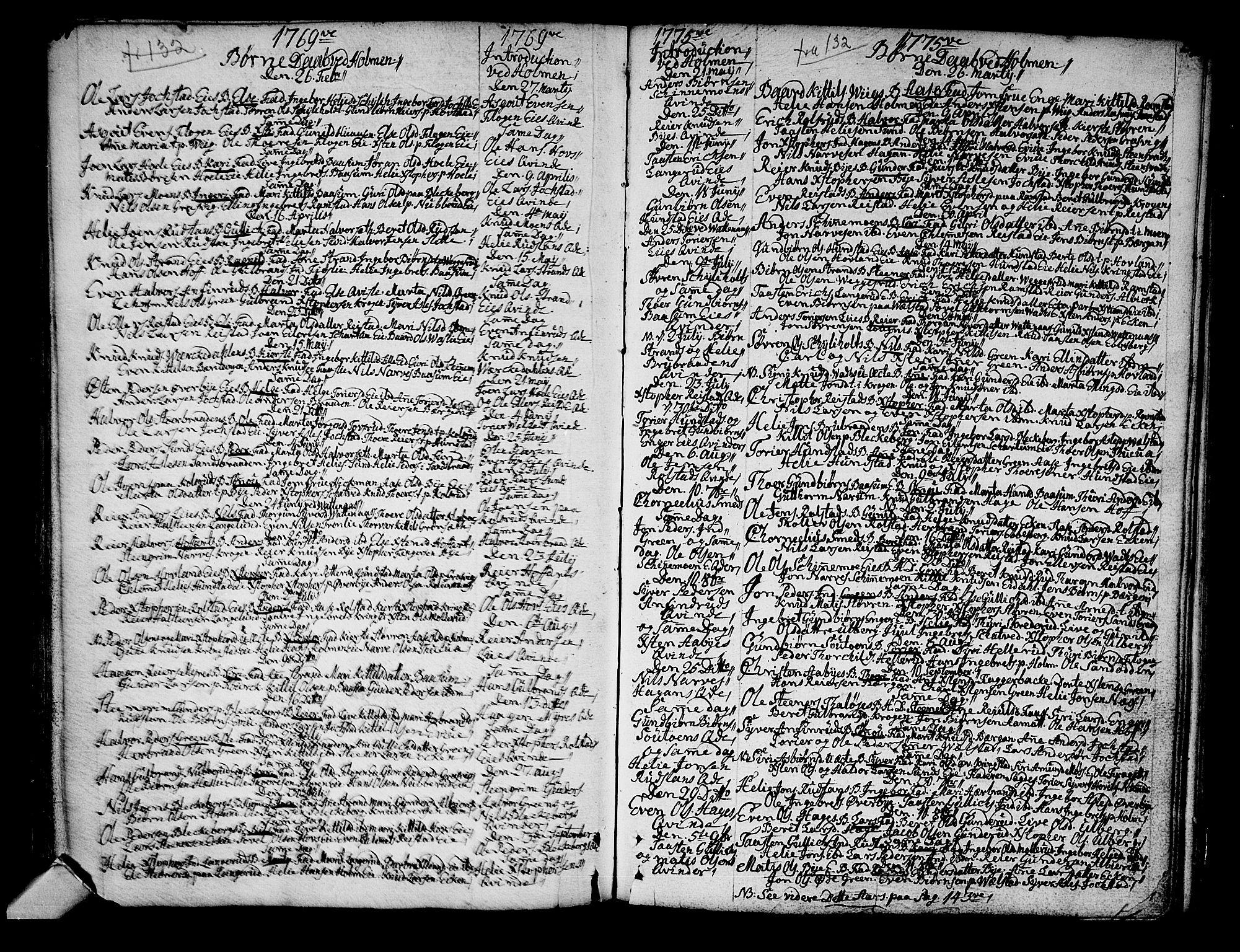 SAKO, Sigdal kirkebøker, F/Fa/L0001: Ministerialbok nr. I 1, 1722-1777, s. 137-138
