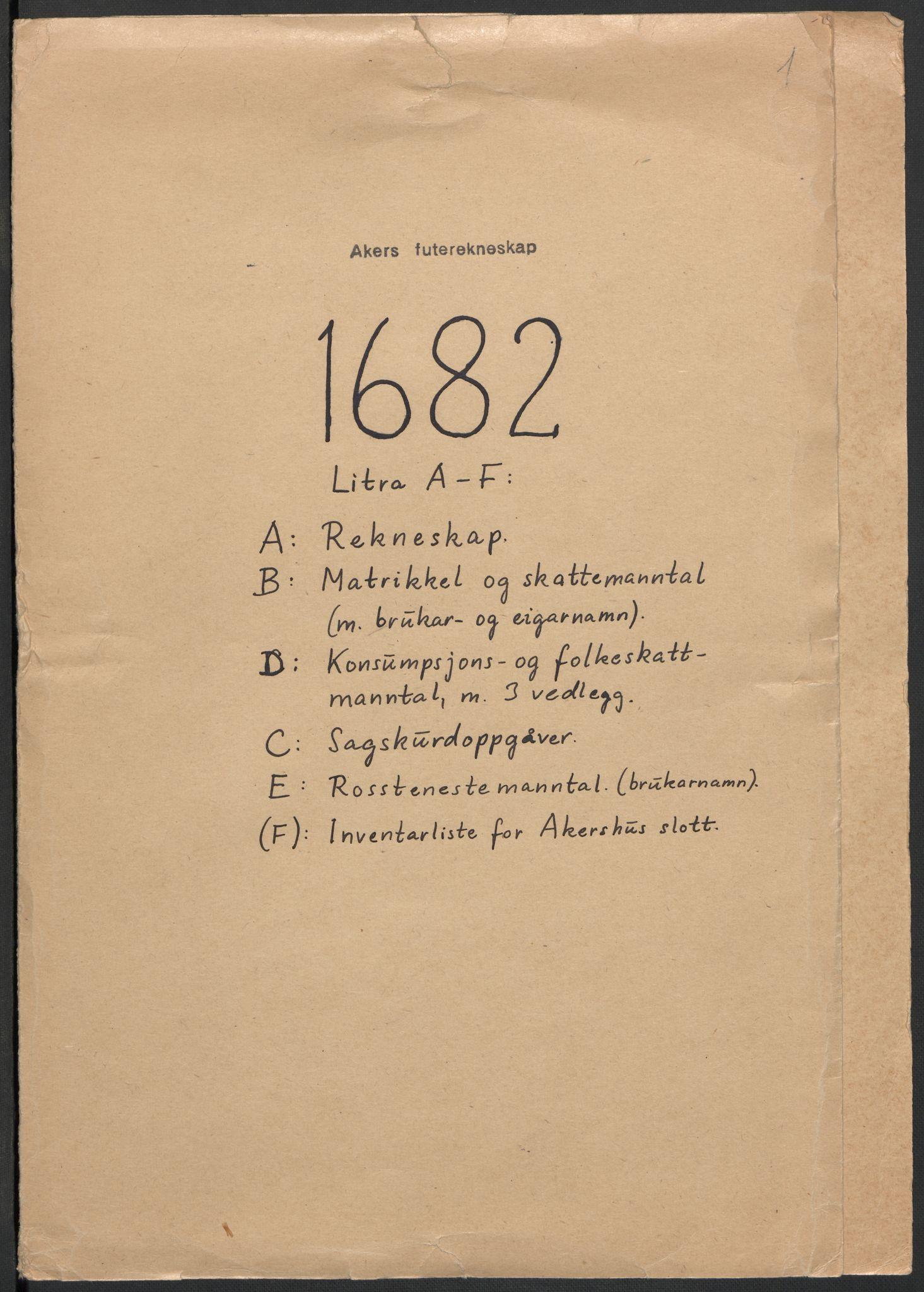 RA, Rentekammeret inntil 1814, Reviderte regnskaper, Fogderegnskap, R08/L0420: Fogderegnskap Aker, 1682-1691, s. 109